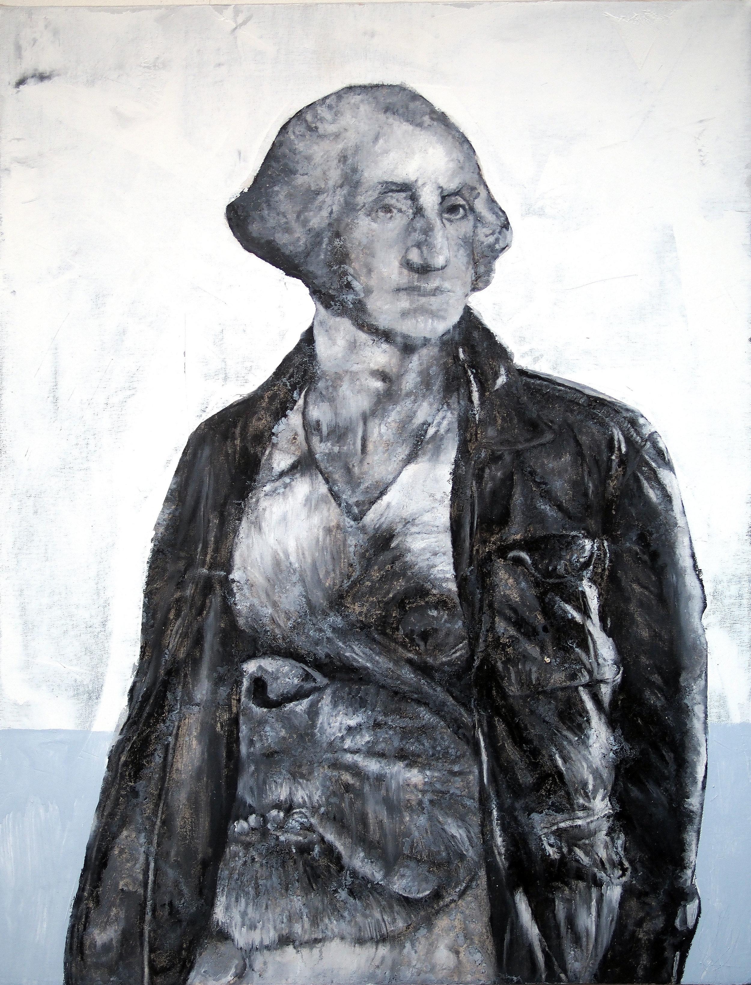george washington painting with pug