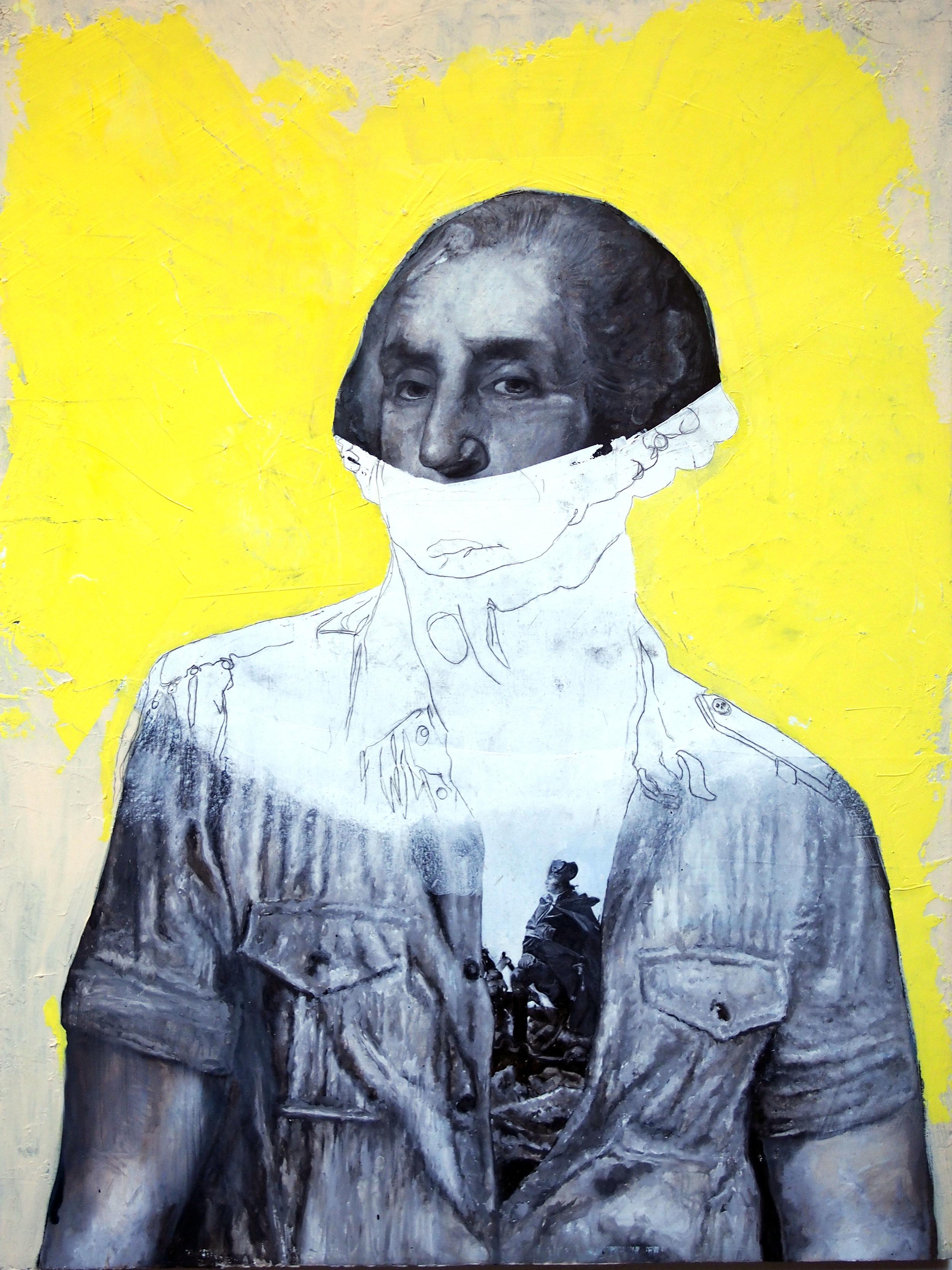 george washington yellow joker painting