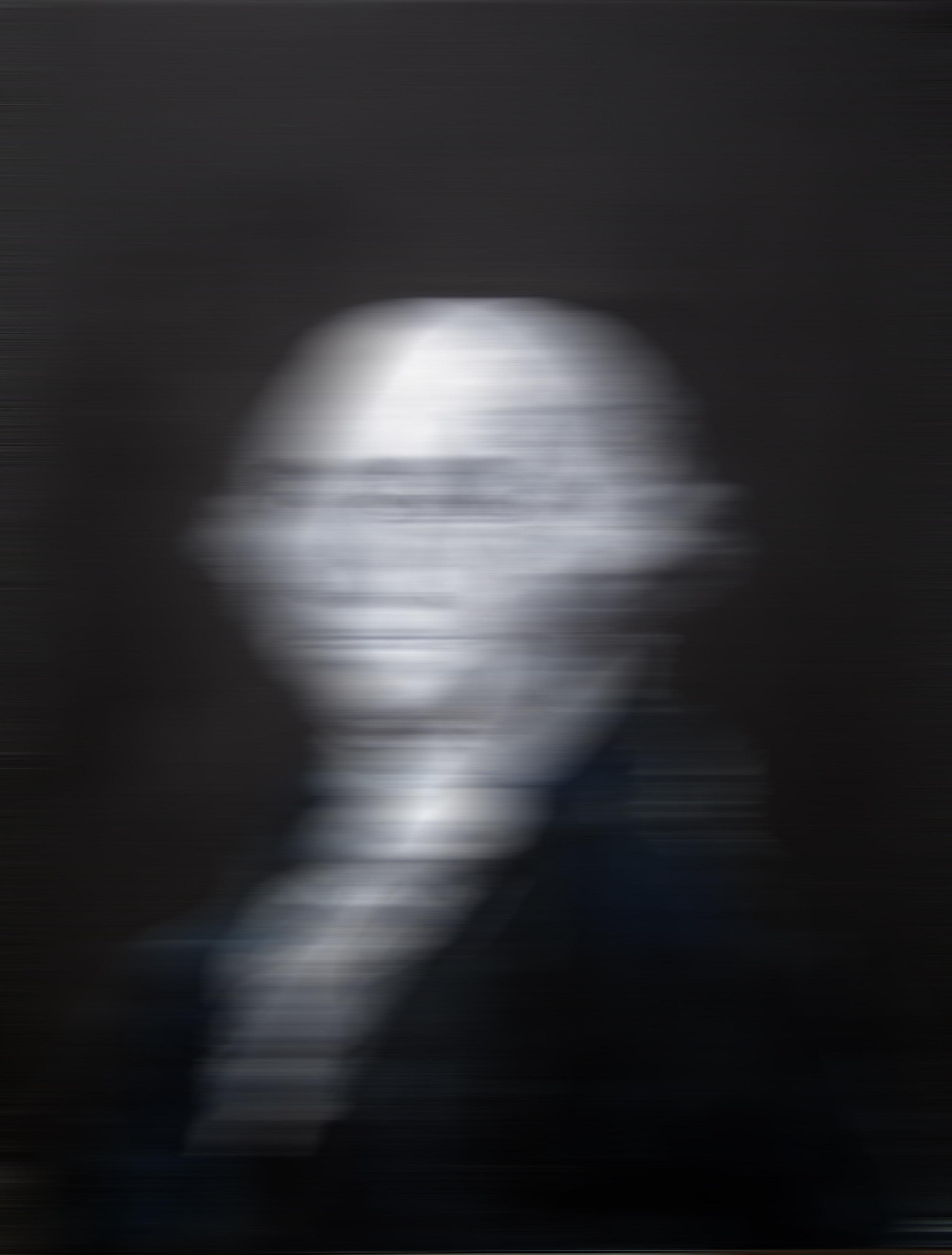 blurry george washington black painting
