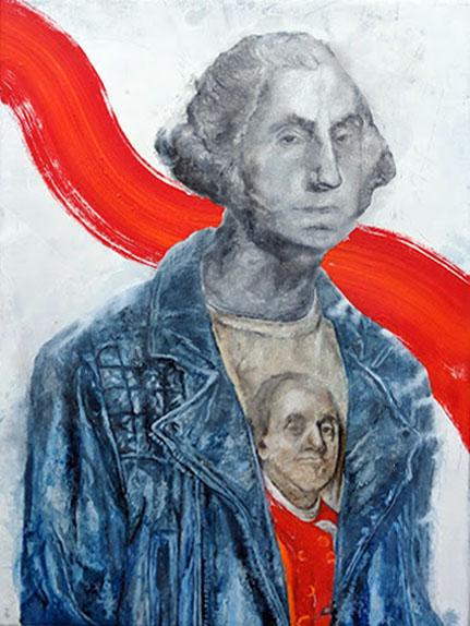 george washington ben franklin painting