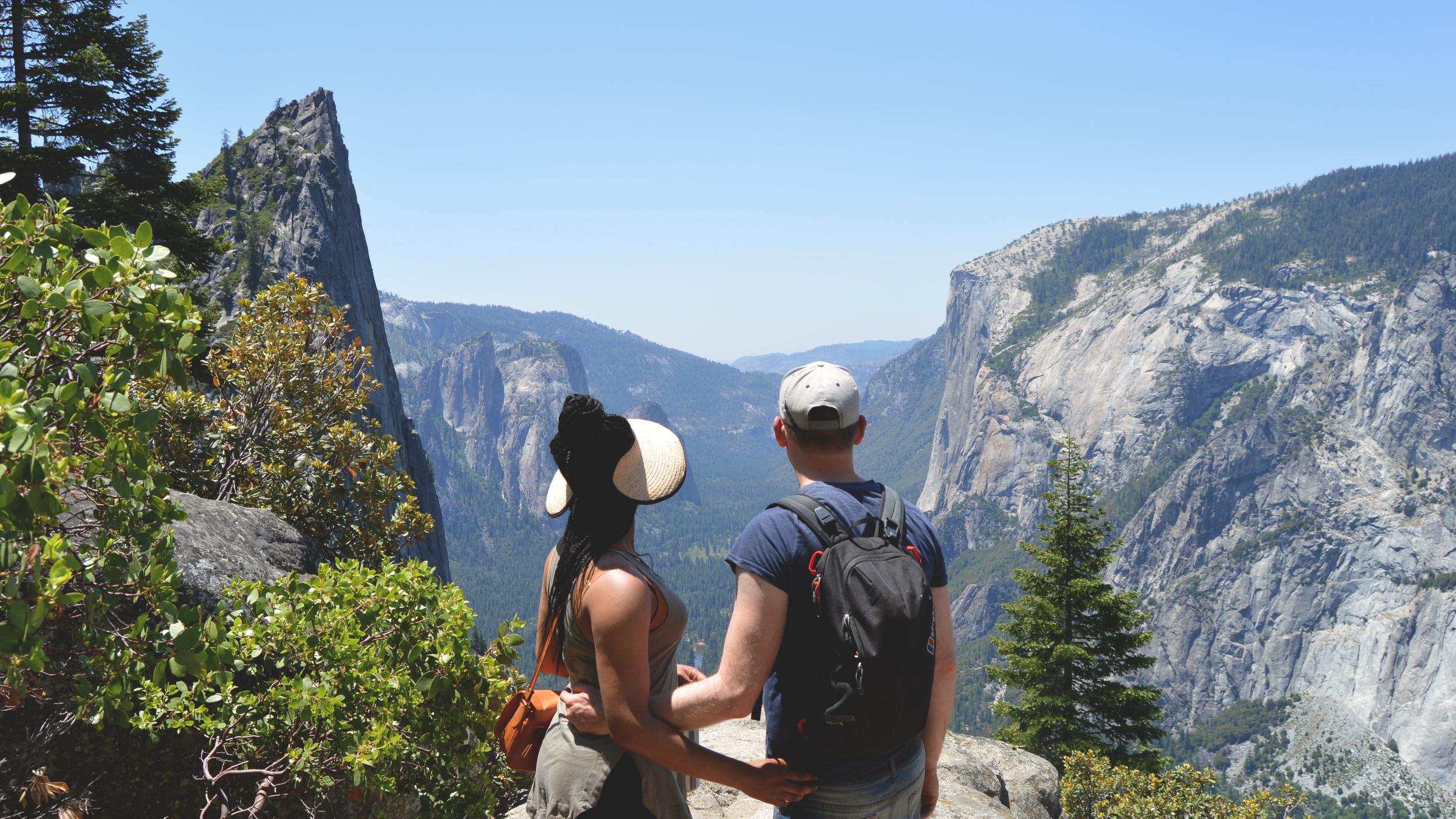 Abigail and Ben at Yosemite National Park, June 2015