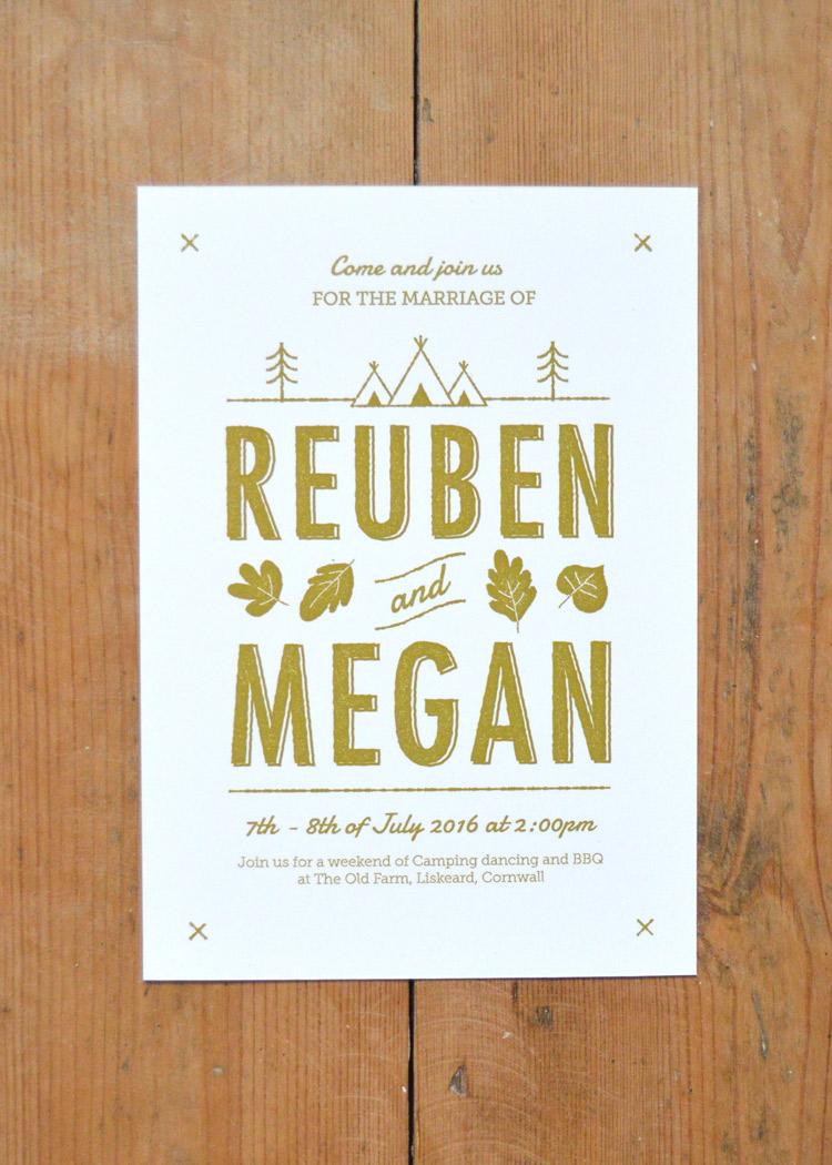 Summer Camp Wedding Invitation