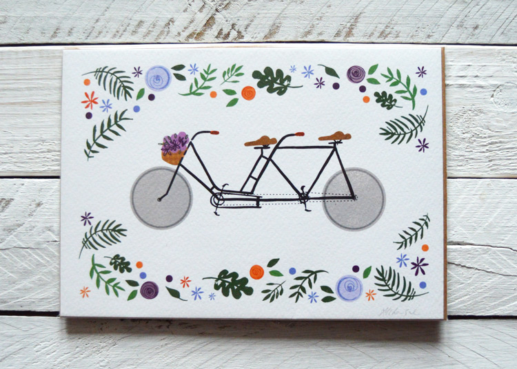 Bike Lovers, Illustration by Abigail McKenzie, £6.50