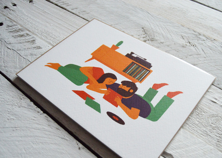 Record Playing, Illustration by Ben Aslett, £6.50