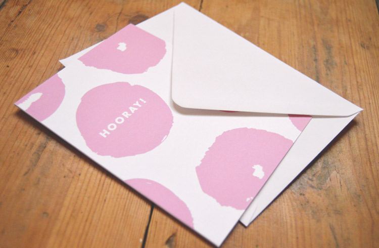 Hooray! greetings card - £2.50