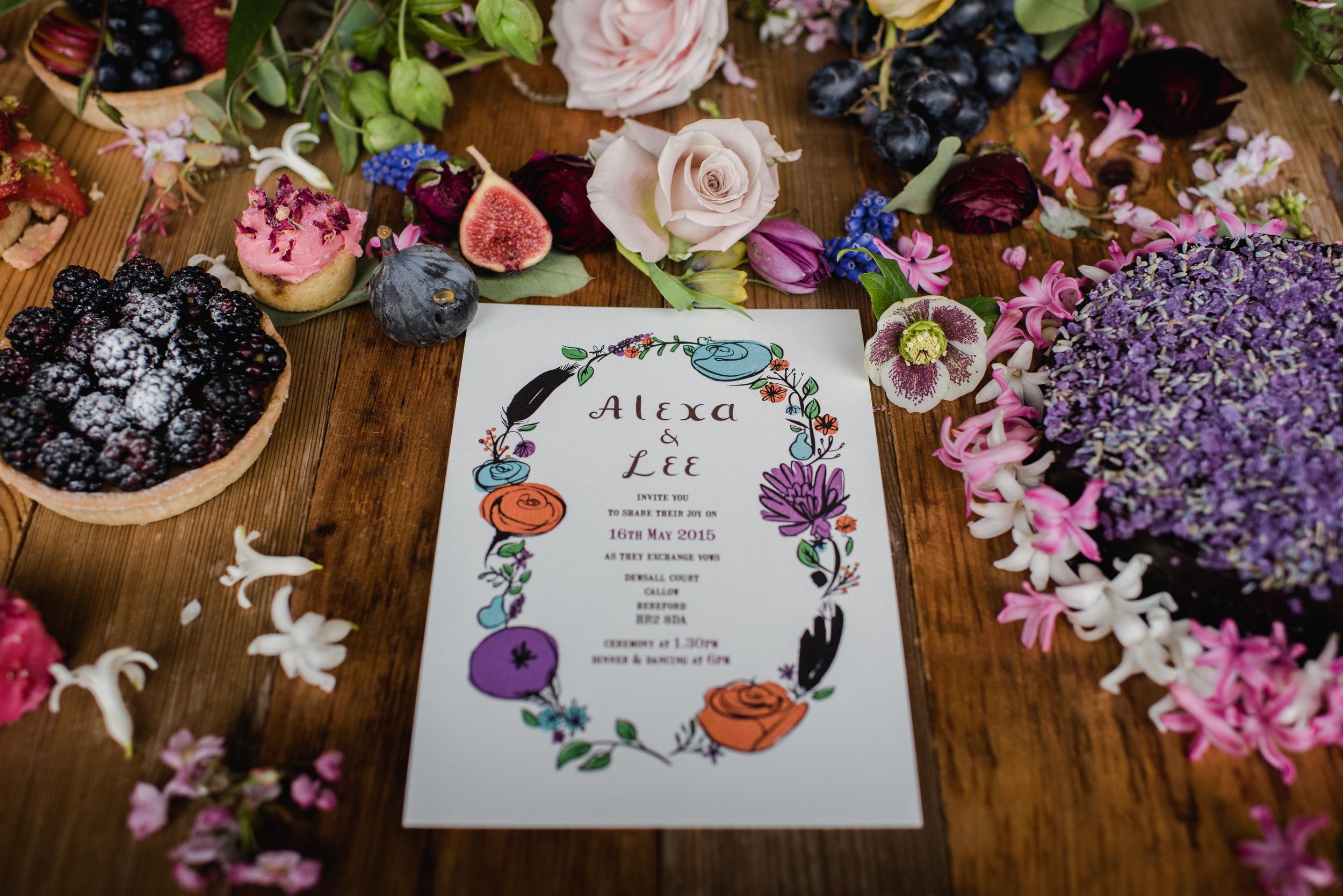 Flora & Fauna Wedding Invitation, photograph by  Alexa Loy