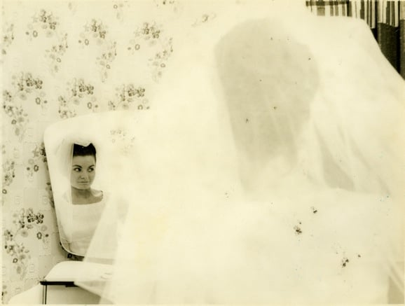 The Bride's mother on her wedding day
