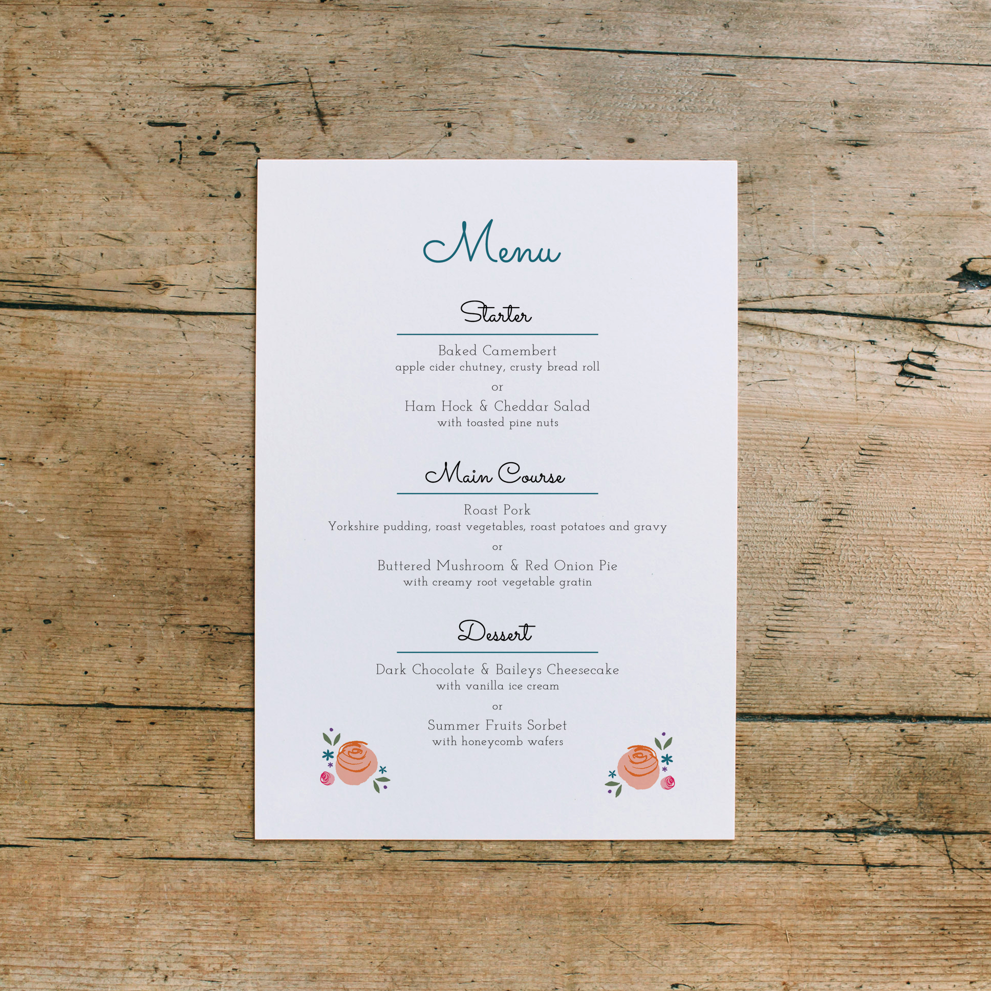 ... and if you still need stationery such as menus or a table plan just let us know! To celebrate our collaboration all couples getting married at Devonport Guildhall receive 20% off our bespoke design!