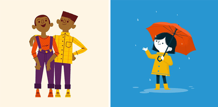 Left:  Bros  by  Ben Aslett  Right:  Rainy Day  by  Ben Aslett