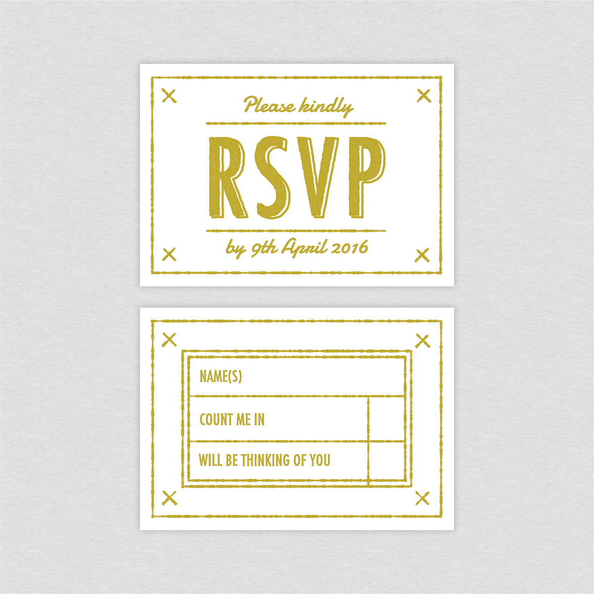 Dearly Beloved Summer Camp Wedding RSVP card