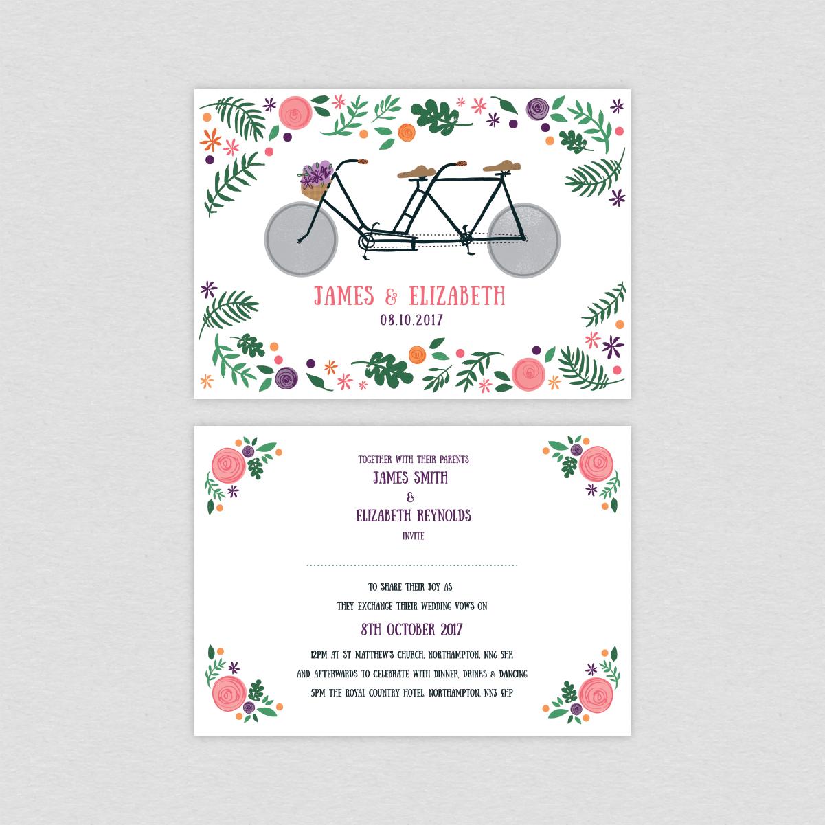 Dearly Beloved Bike Lovers Wedding Invitations