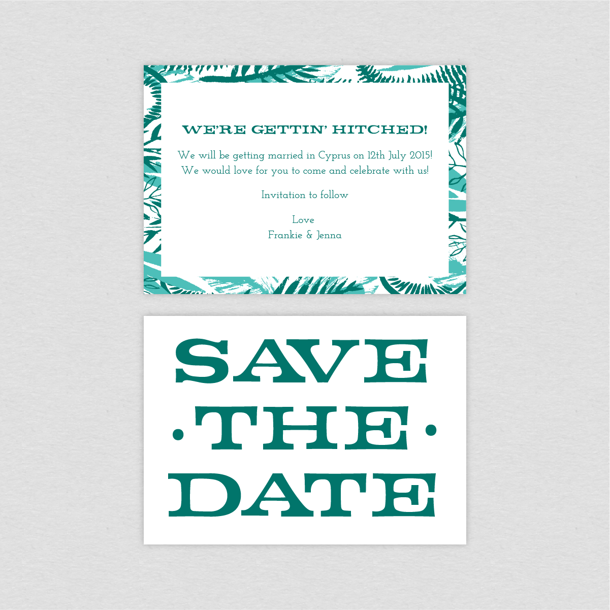 Dearly Beloved Wedding Save the Date card