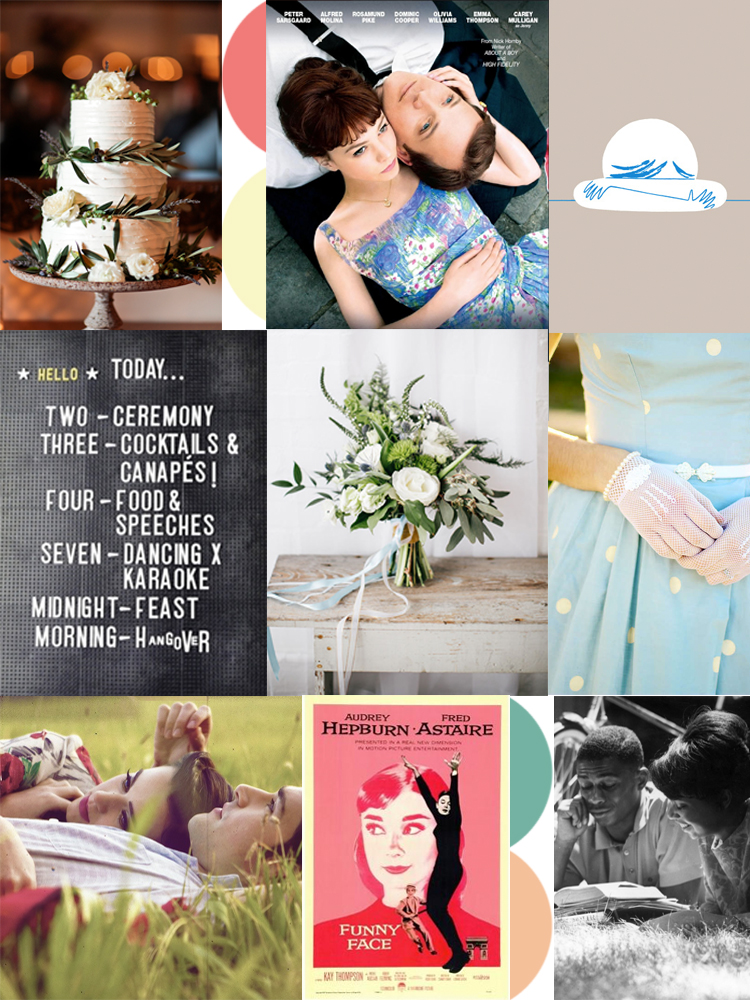 For even more wedding inspiration and the links to our moodboard images check our our  Vintage Movie Pinterest board