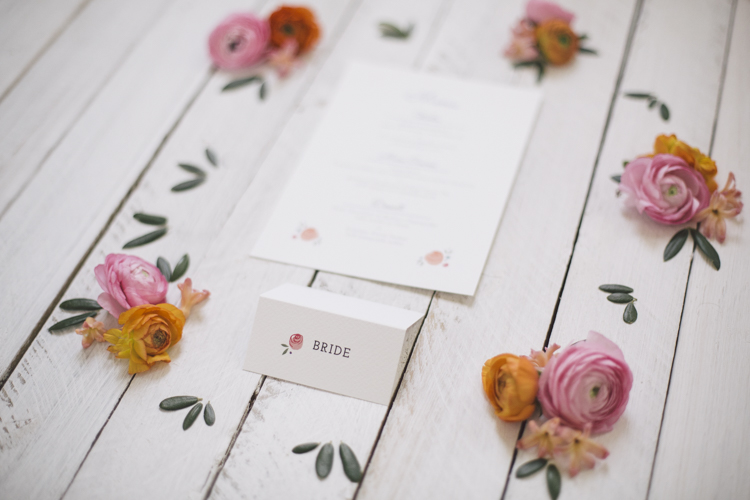 We emulated the illustrated  illustrations  featured on the suite in real life florals. Photo by  Grace Elizabeth Photography