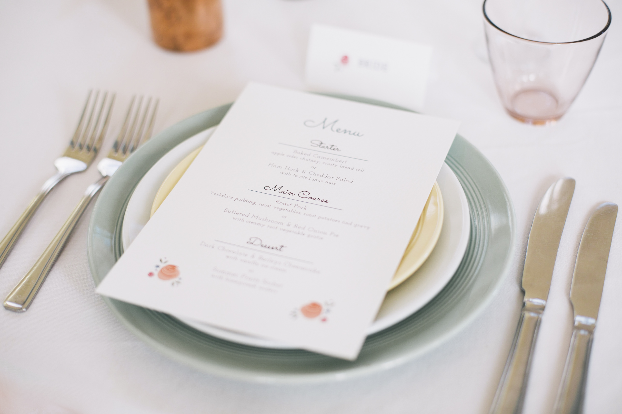 Spring Table Decor, Menu by  Dearly Beloved . Photo by  Grace Elizabeth Photography