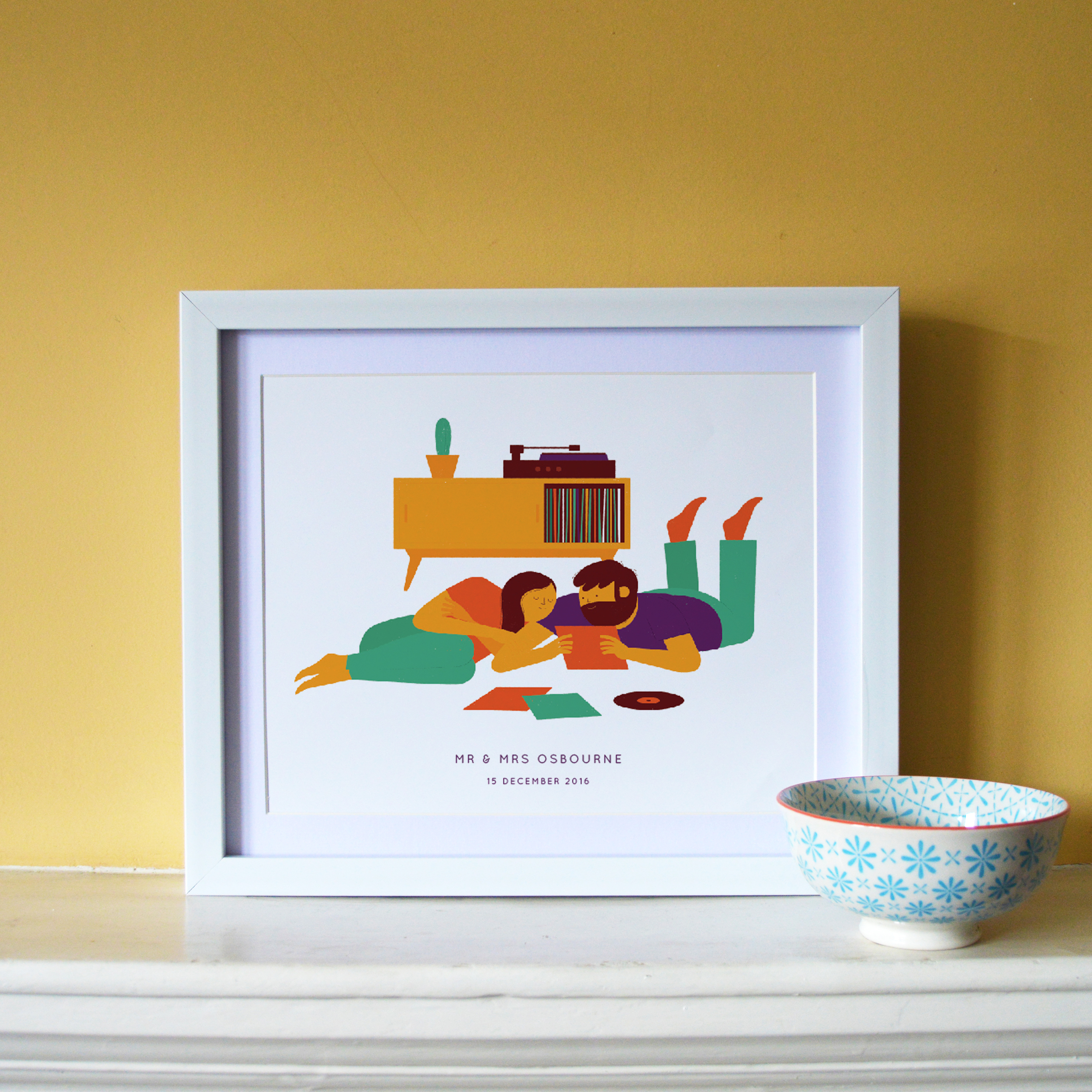 ' Record Playing ' created by Ben in the Dearly Beloved studio, available exclusively on  notonthehighstreet.com