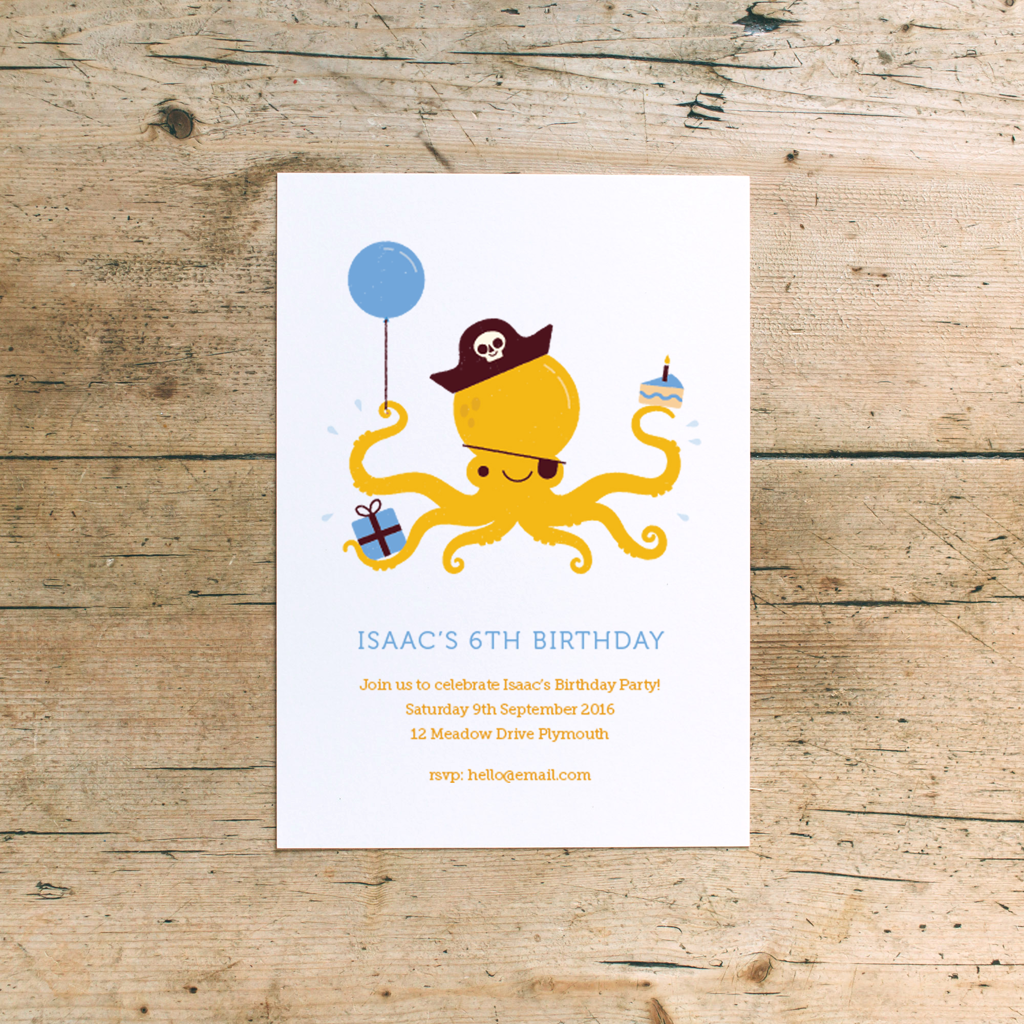 'Pirate Fun' Birthday Party Invitations  available from  notonthehighstreet.com