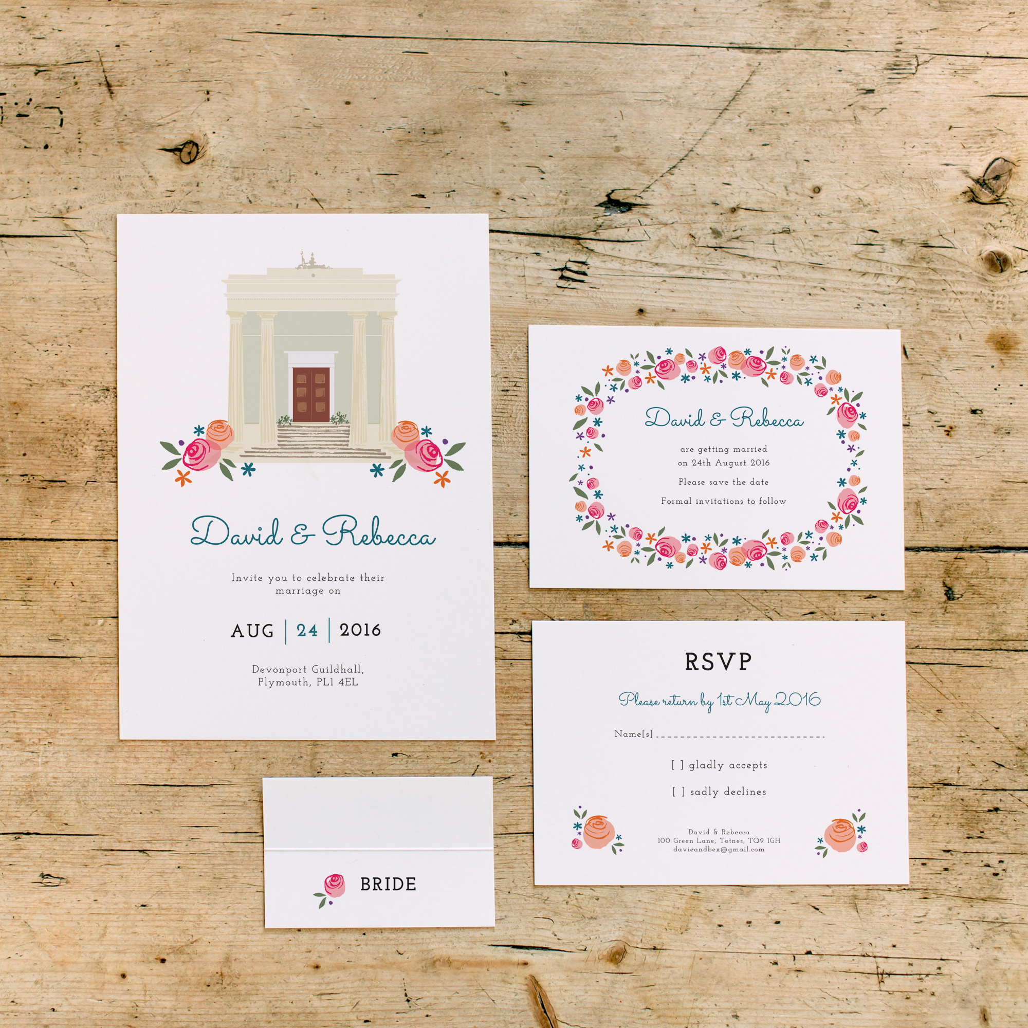 dearly-beloved-devonport-guildhall-wedding-stationery