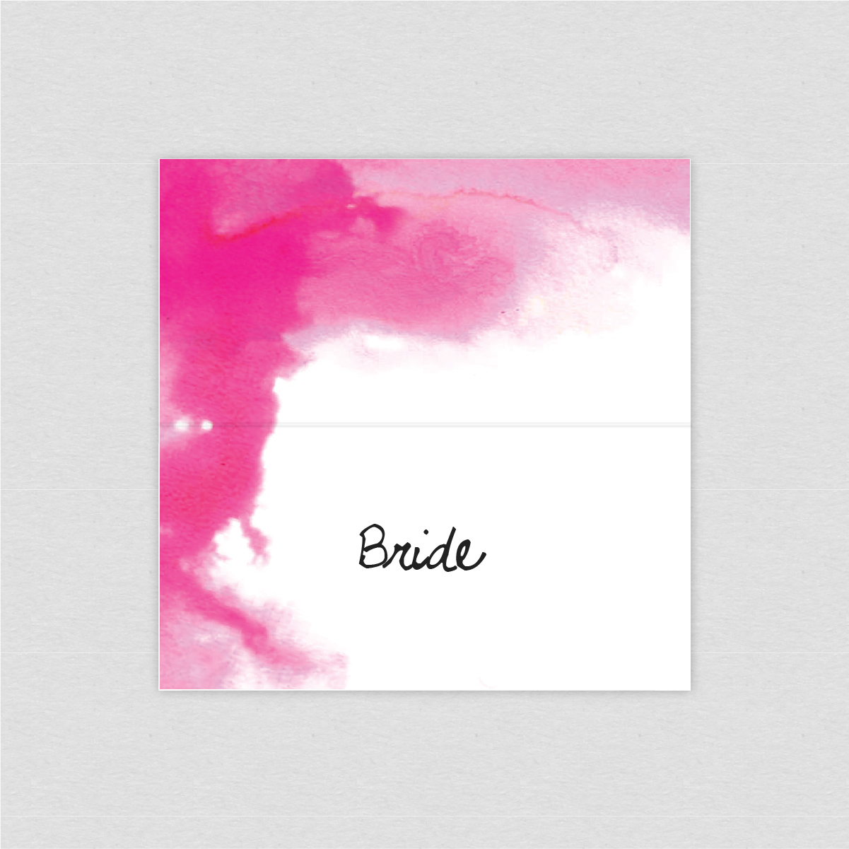 dearly beloved, quartz watercolour painting wash pink luxury wedding place setting card