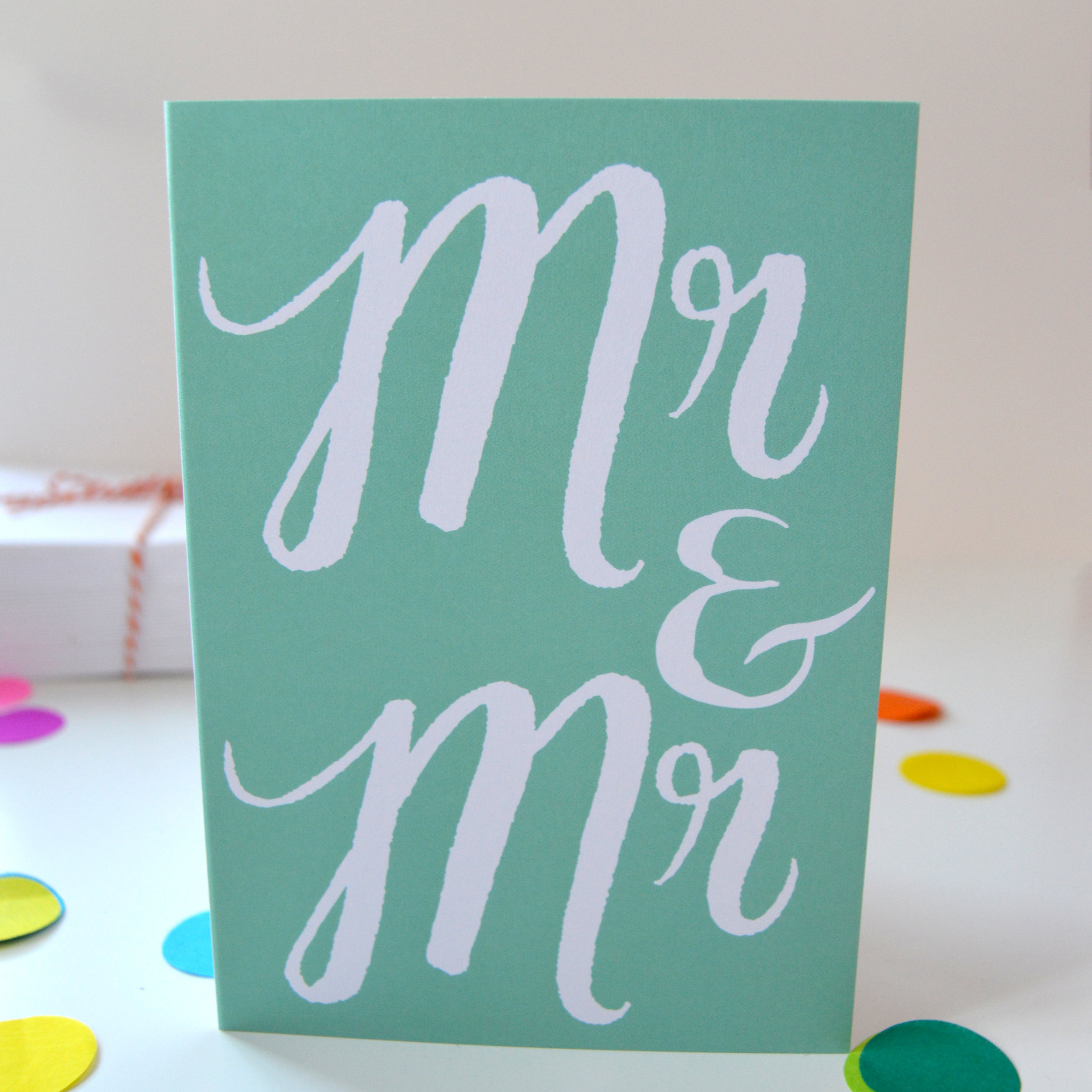 Mr and Mr Congratulations card for gay wedding celebrations