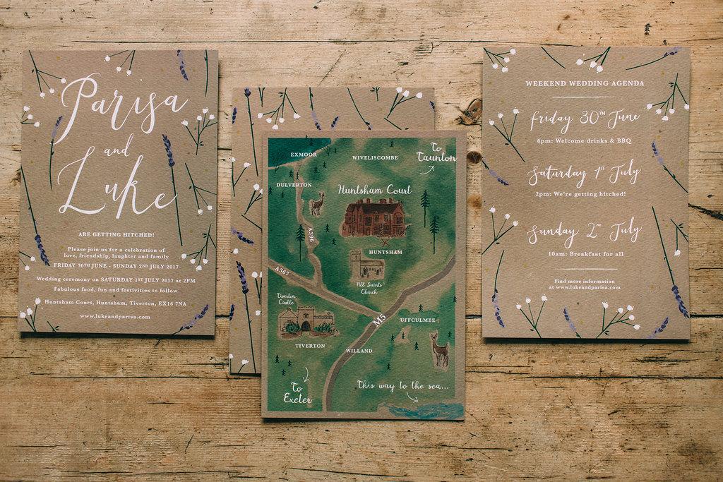 dearly beloved bespoke rustic wedding invitations huntsham house