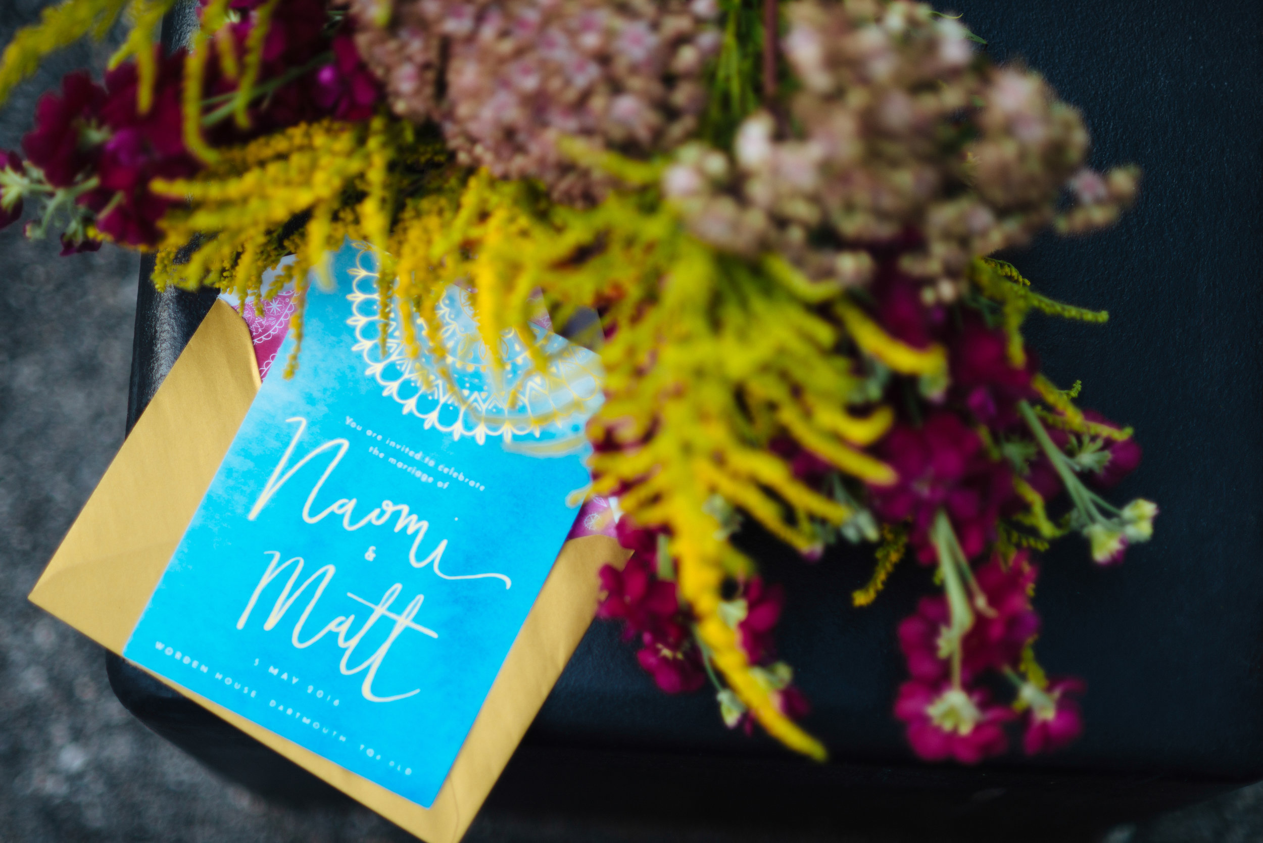 Margo featured our  Eastern Glamour wedding stationery  and flowers by  Clare Kilgour  for extra kicks of colour.