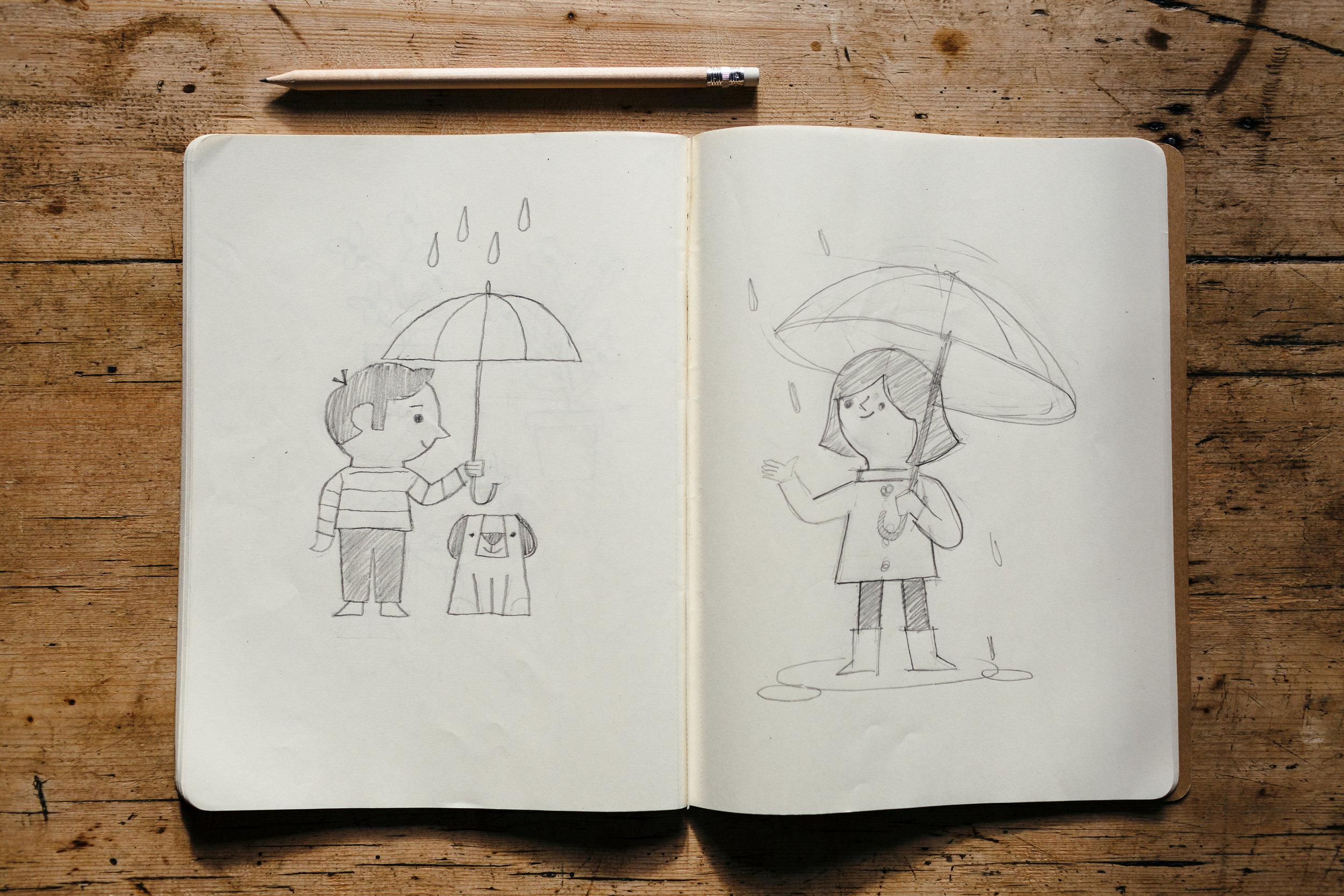 dearly beloved sketchbook ben aslett rainy days