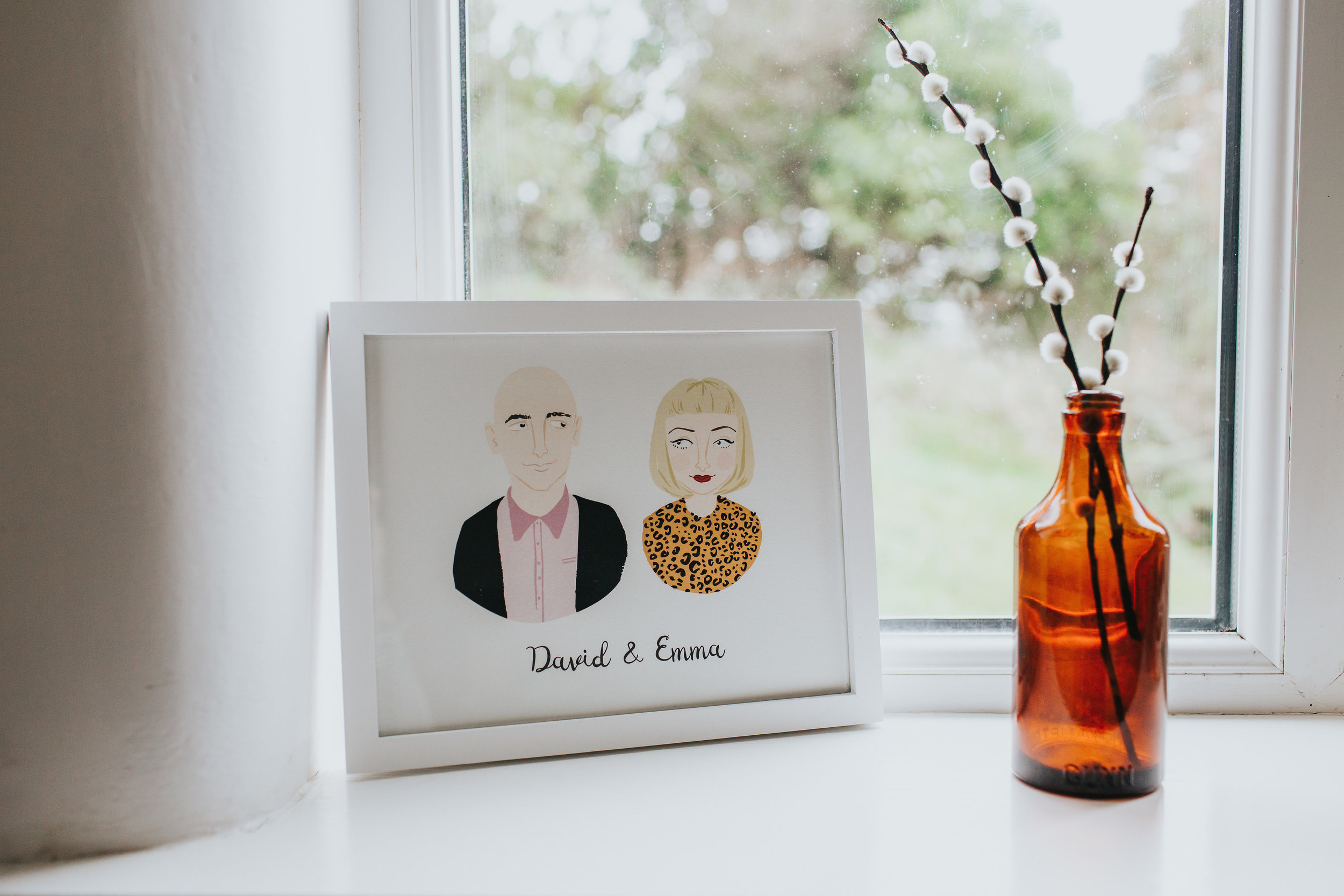 Bespoke Illustrated Portrait Couple Print  - £75, available from  notonthehighsteet.com  Product code: 665725