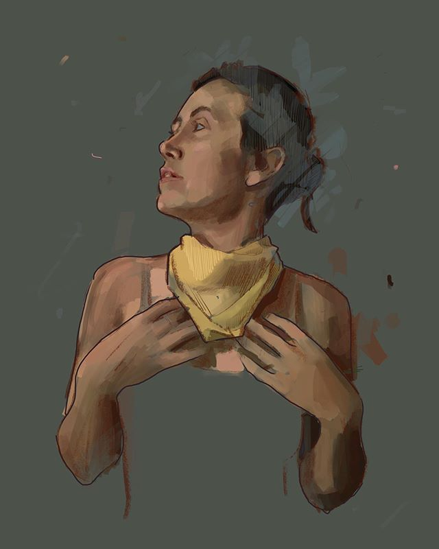 A recent B-side that holds its own.  #portrait #painting #digitalpainting #artwork #ipadpainting #procreate #creative #artist #pensacolaartist #bside #study #portraitpainting