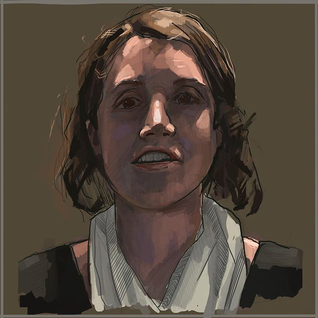 Sarah in 'Touched By An Angel' lighting last week.  #study #portrait #painting #digitalpainting #hardlighting #portraitpainting #artwork #creative #creativework #touchedbyanangel #artist #procreate #processvideo