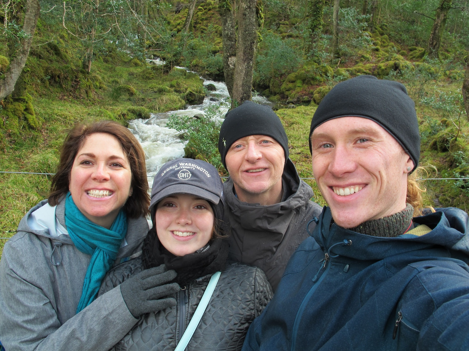 At Glenveagh National Park on our family trip to Donegal in March 2016. Meredtih, Aine, myself (Stuart), and Liam.