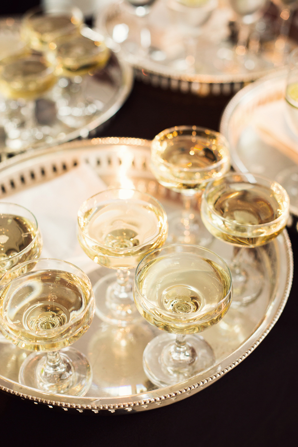 Champagne served in Coupette glasses