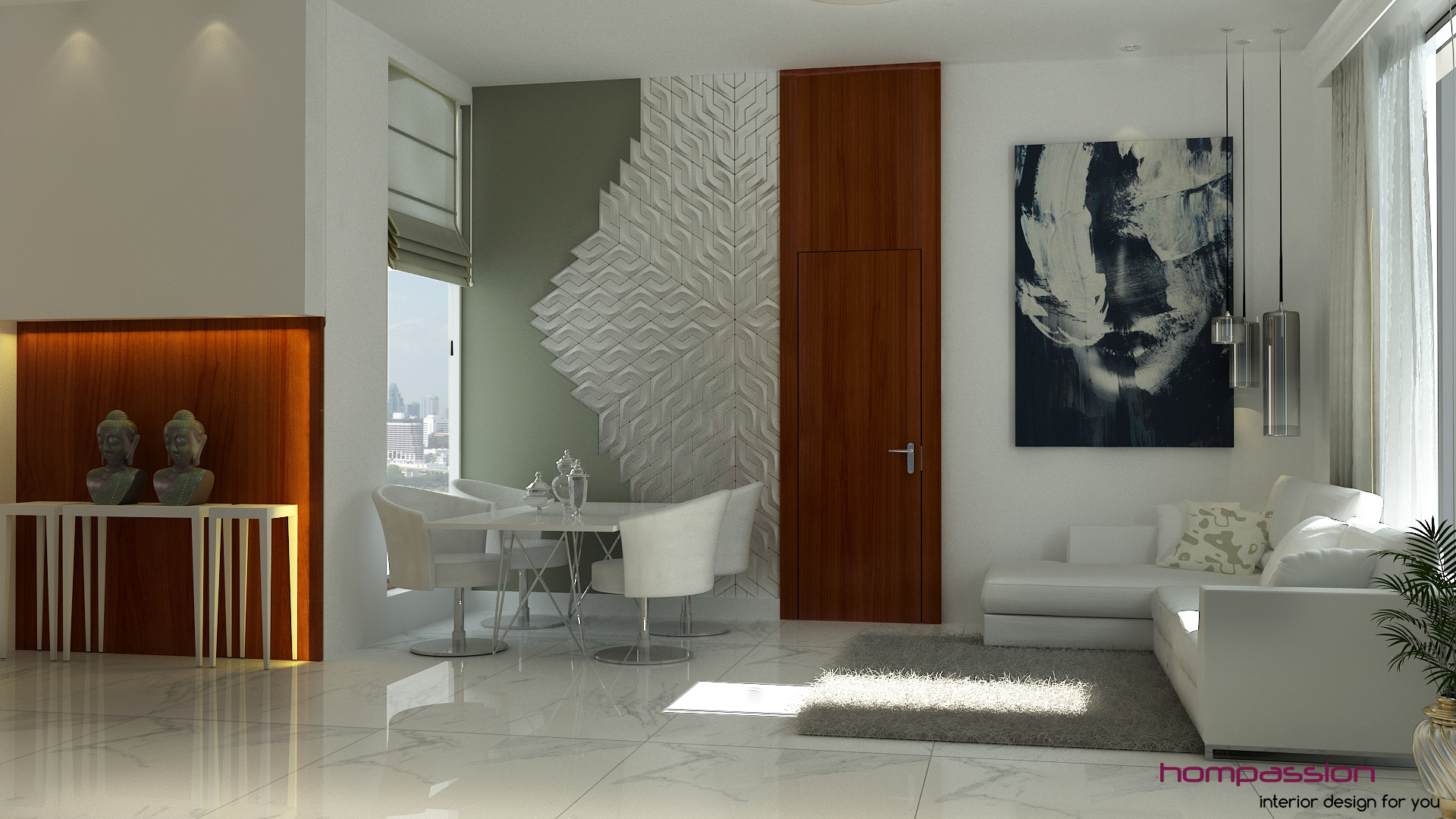 Here's our latest design, a contemporary living room design for 170 sq.ft. – all for around Rs. 4000 per sq.ft. starting with a bare concrete shell.... click for more