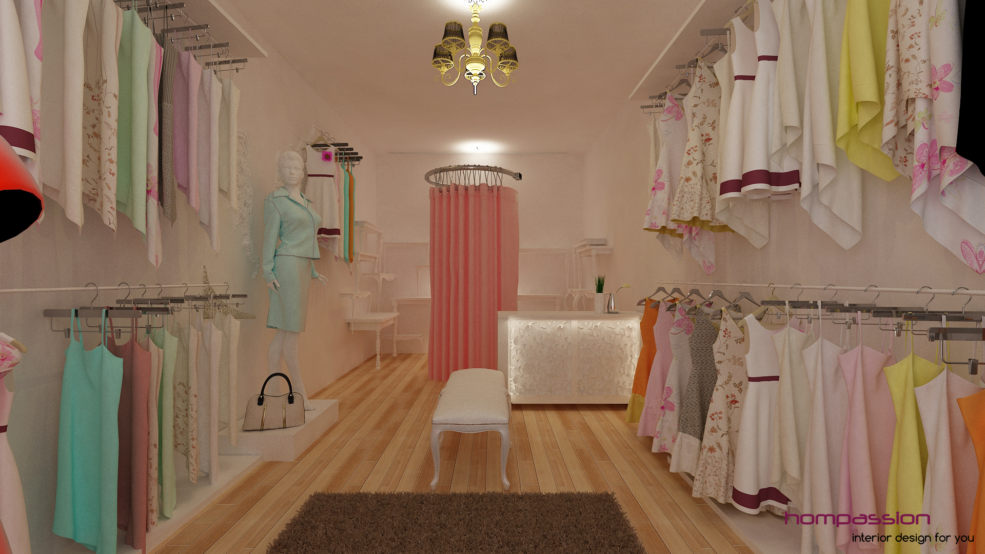Complete fit out for a boutique at Phoenix Kurla, Mumbai for Rs. 230,000 only......click for more