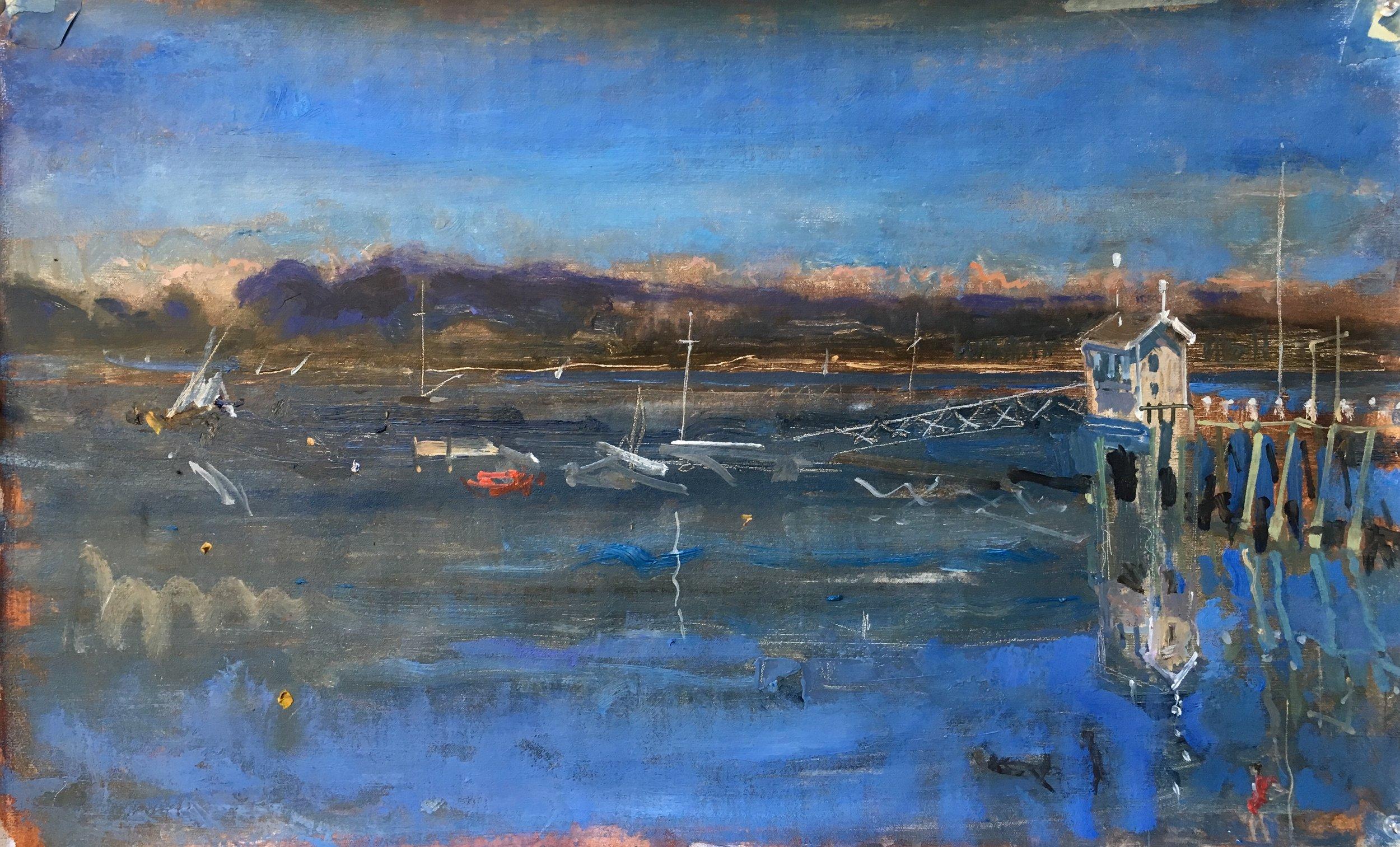 Main Dock,blue study. GCI Maine.