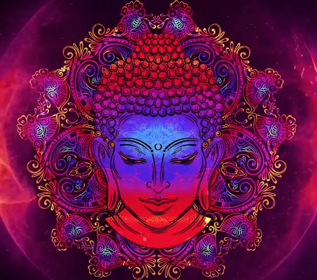 Multi colored Buddha