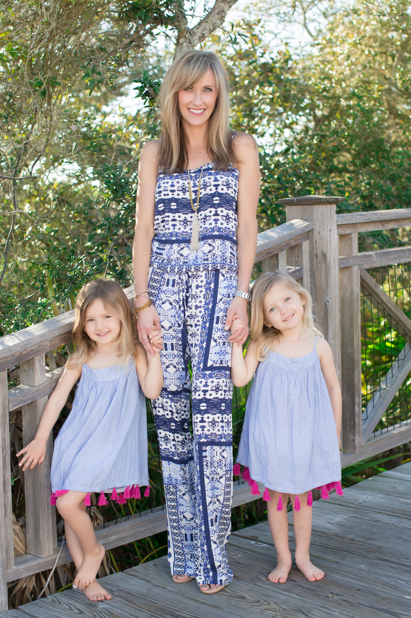 Cooper (left), Riley (right) and me at a photoshoot at Watersound Beach Club board walk for 30A Street Style. -Circa 2015.  Amanda Sause Photography.