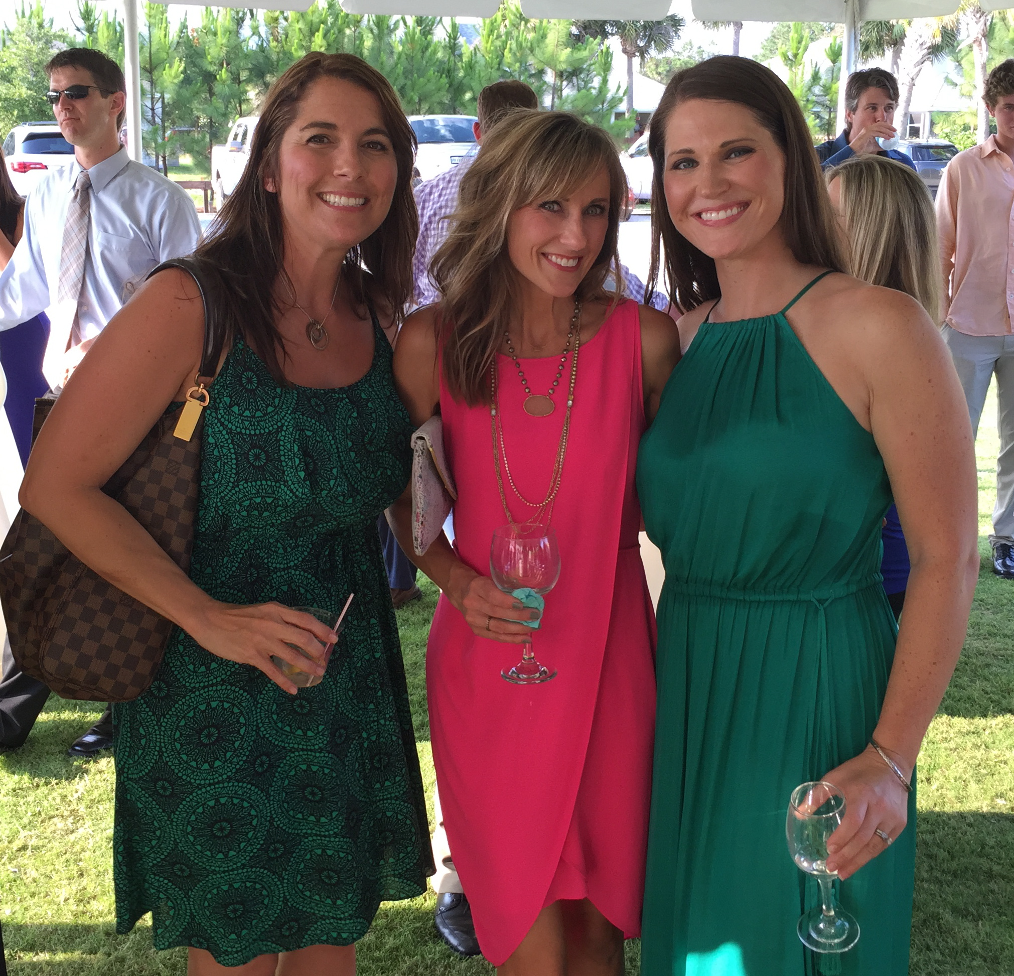 (L to R) Misty Parenzan, me & Jennifer Moffatt - my beautiful friends.