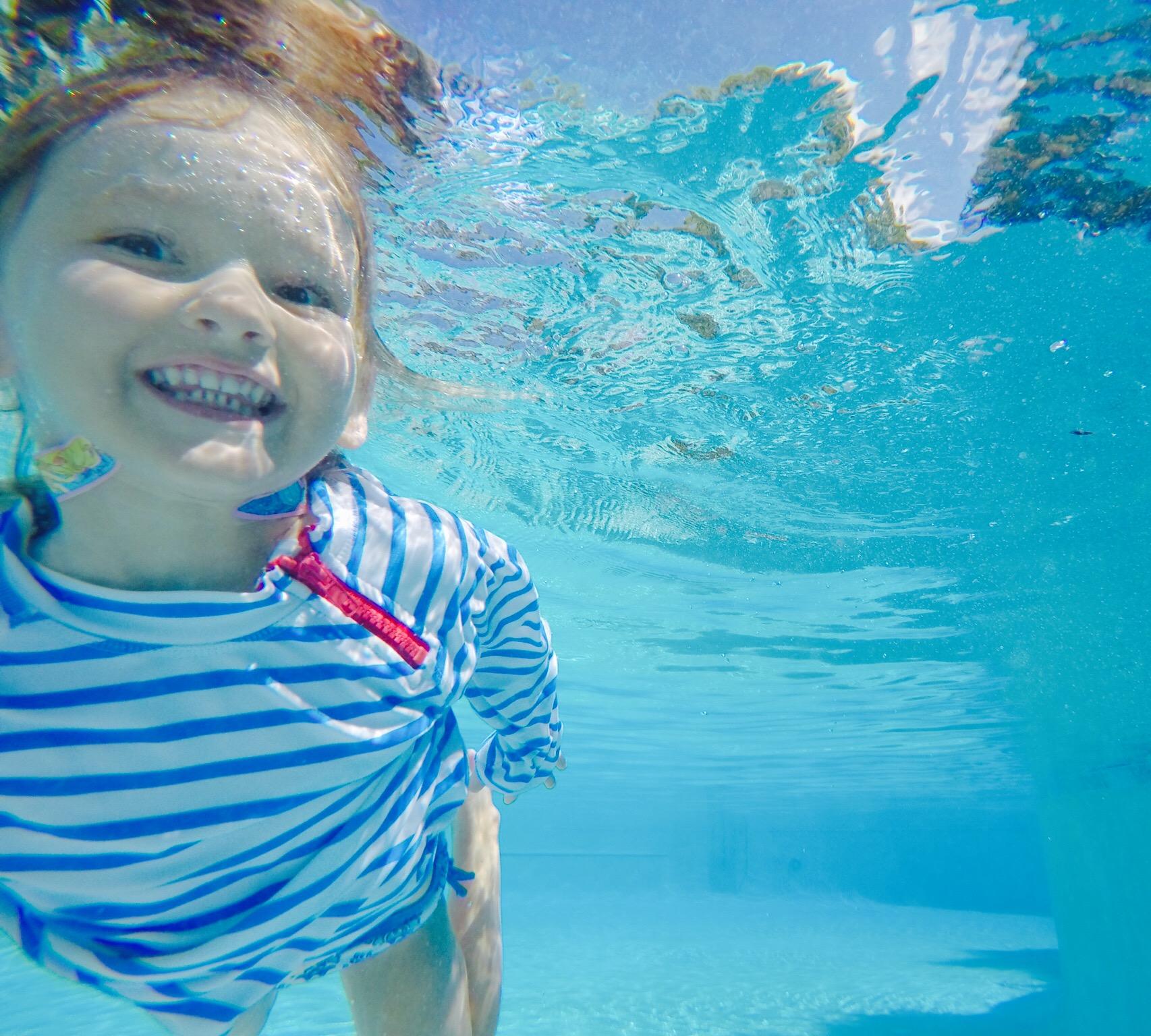 Cooper swimming