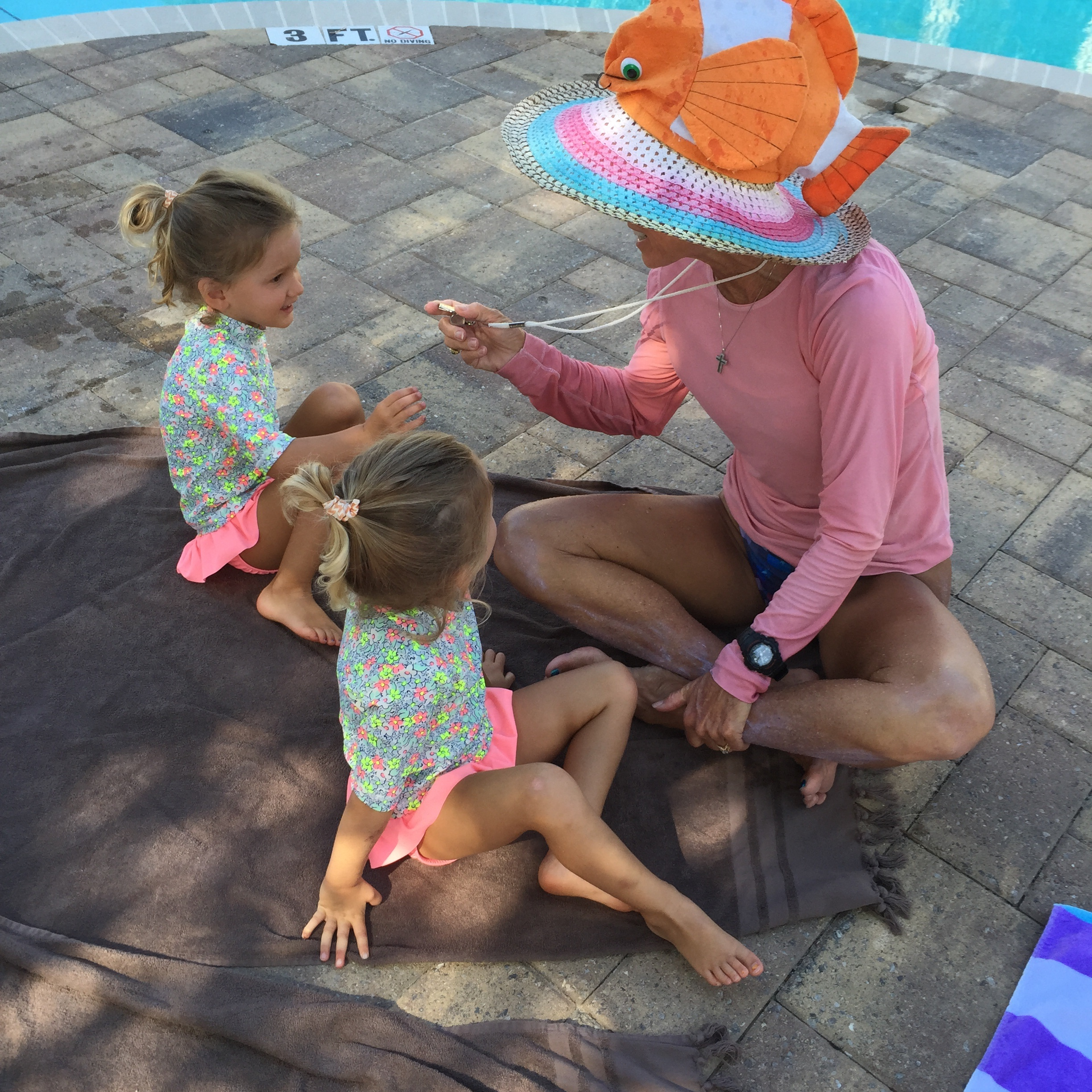 Cooper & Riley with Miss Catherine and her famous FISH HAT!