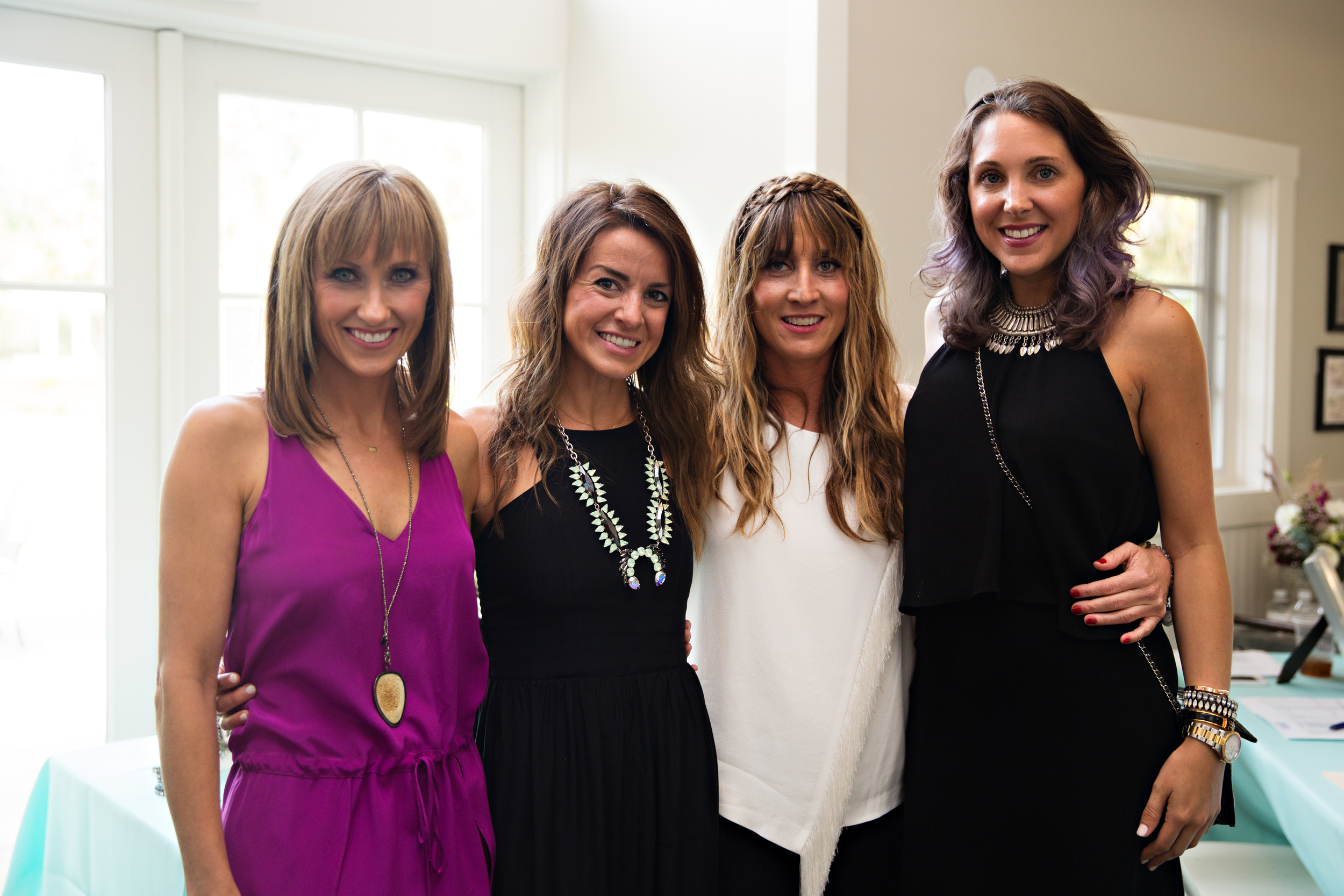 (L to R)  me,  Shelly Brown , Anne Hunter and Allyson Longshore of  STYLE STUDIO .