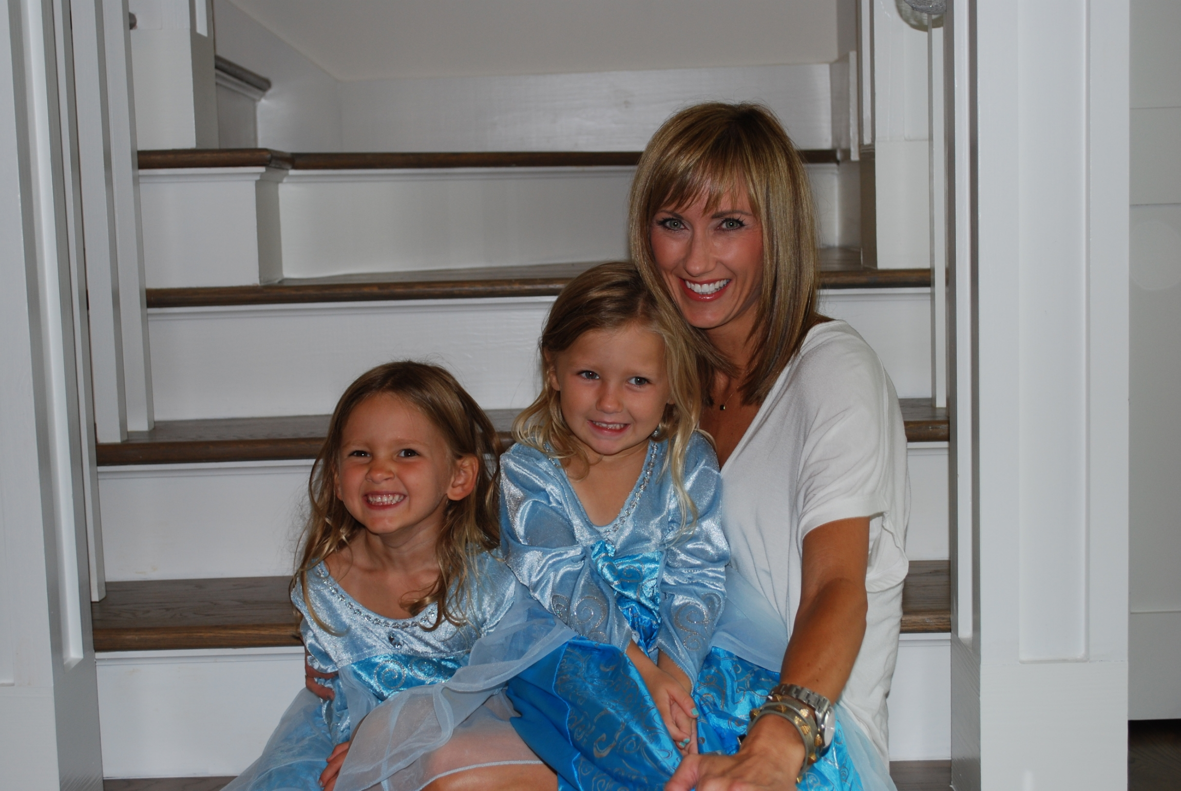 My beautiful, big girls and me awaiting our guests.