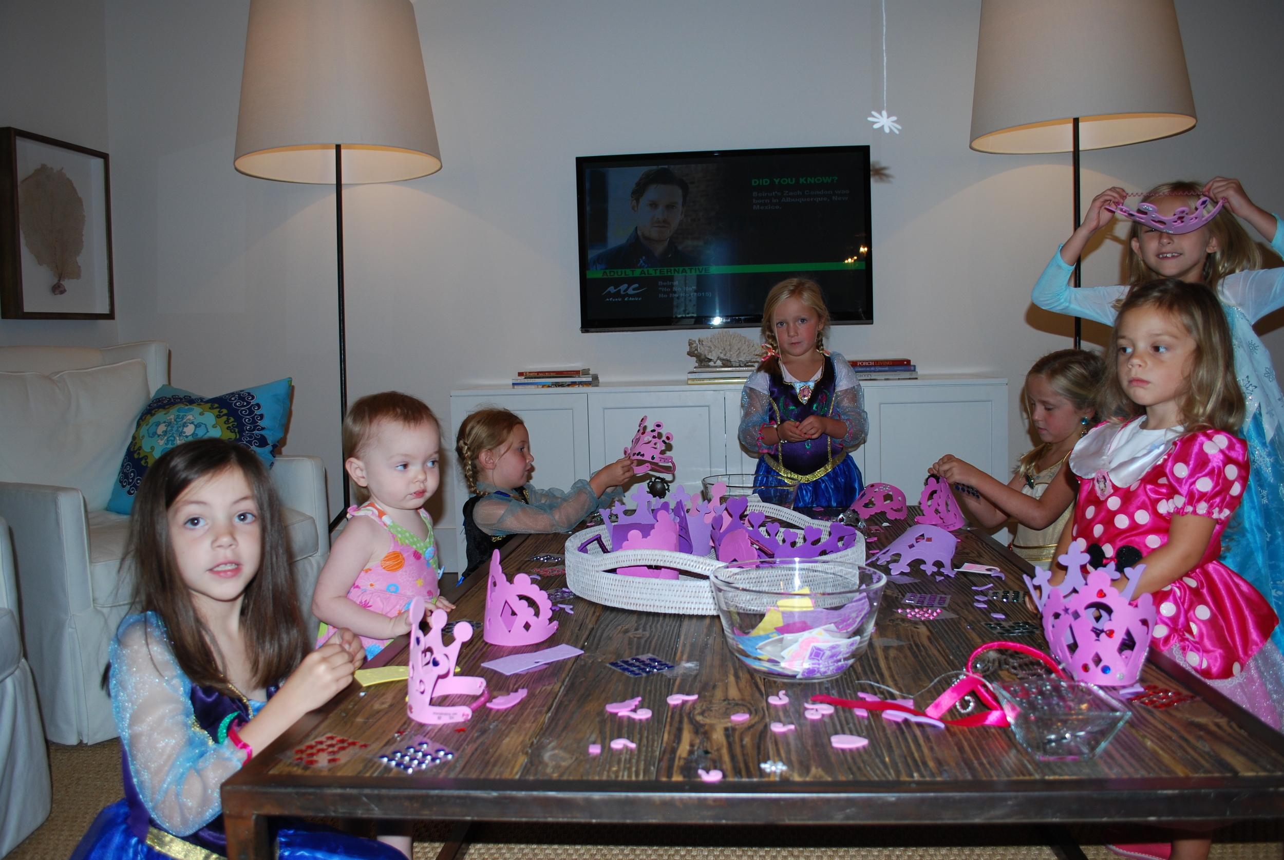 We made princess crowns