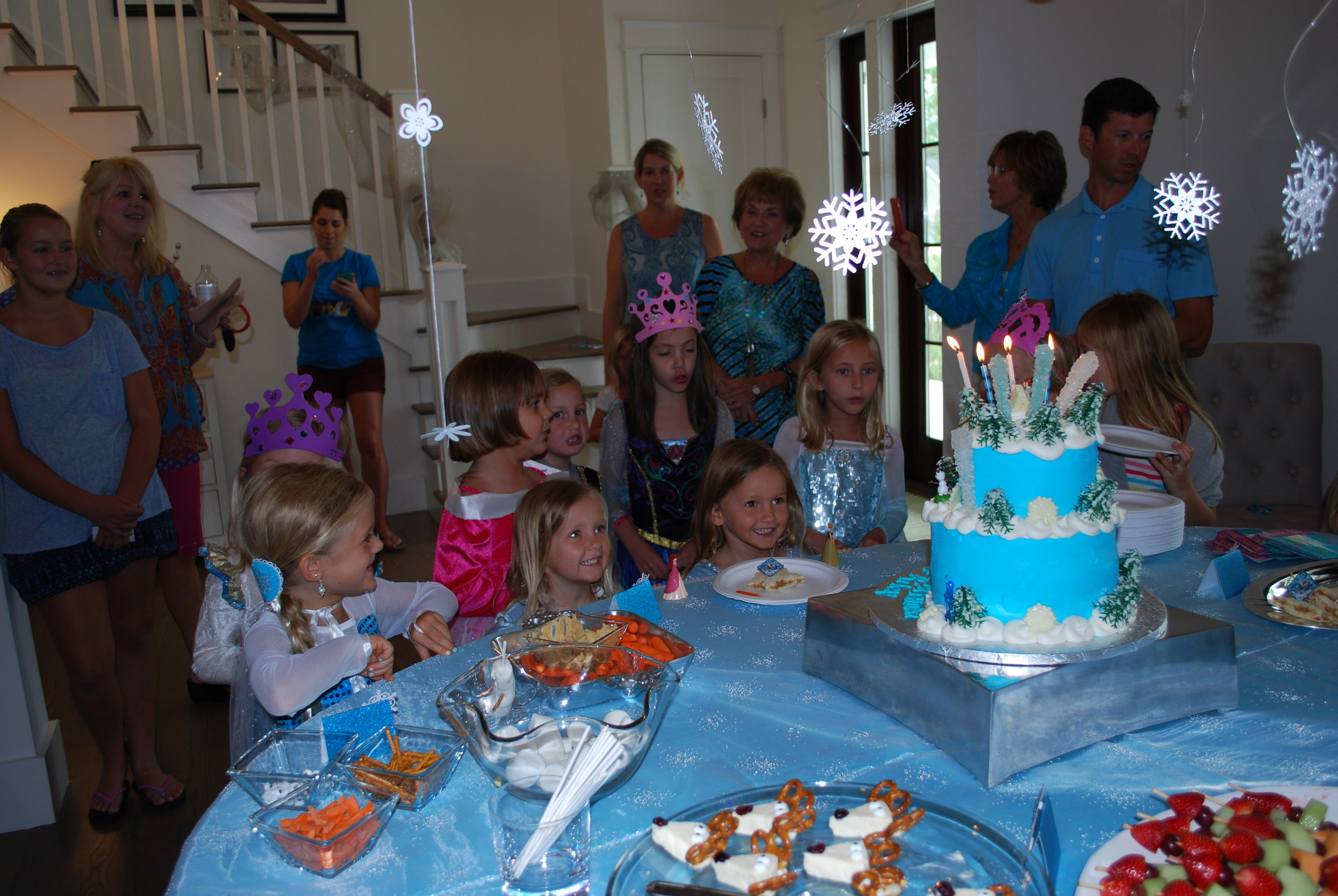Singing Happy Birthday! The girls' faces melt my heart!