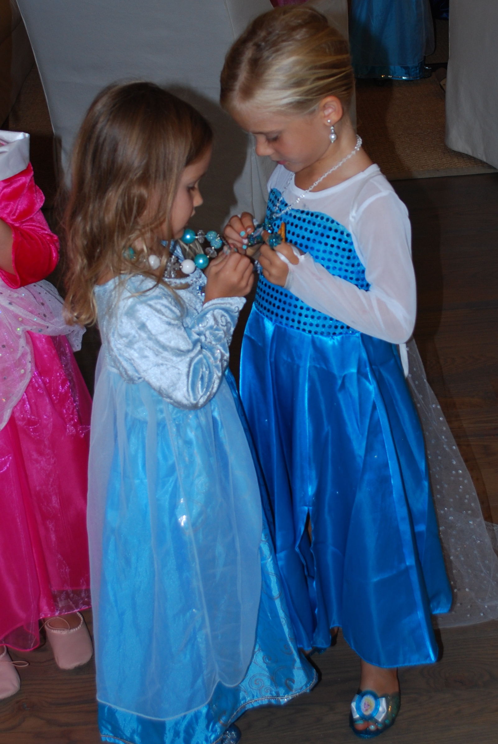 Fun with a sweet new friend, Josephine. Comparing jewels. :)