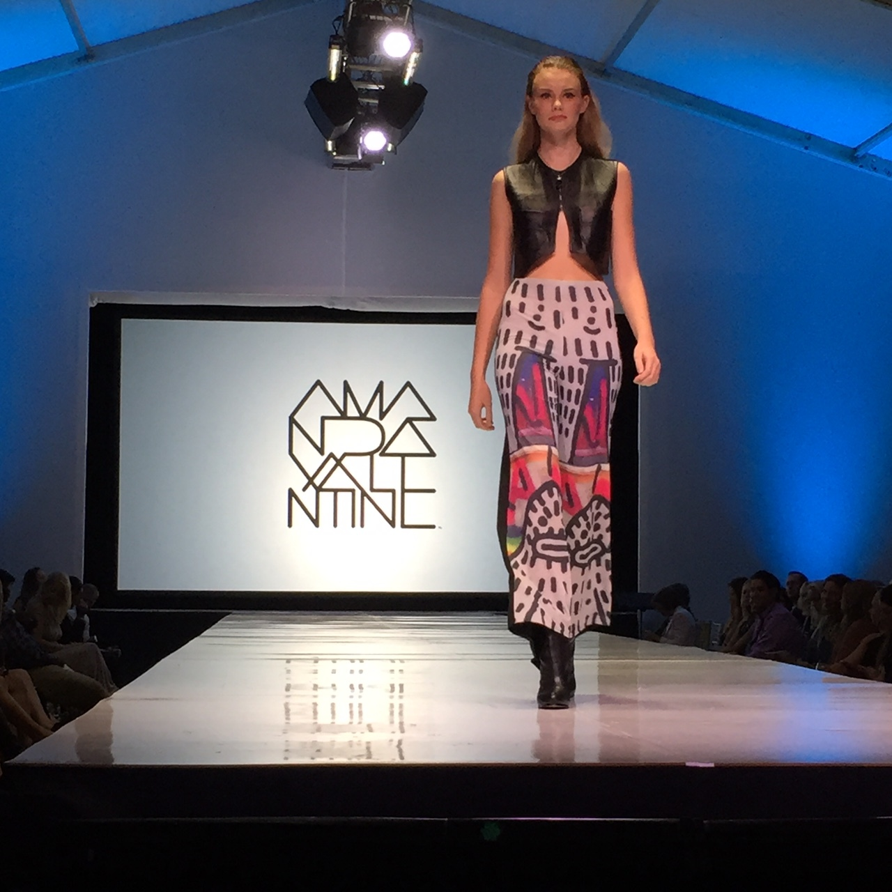 Amanda Valentine  runway. Such a cool and talented girl! We were so blessed to have her participate in SWFW! Model - Miranda Abbney - Model Competition winner.