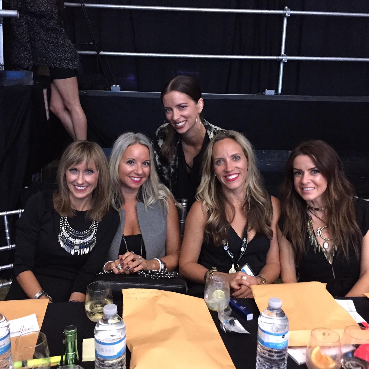 Judges table - (L to R) me, Emily Erusha-Hilleque, Amanda Valentine, Carla Beveridge & Shelly Brown.