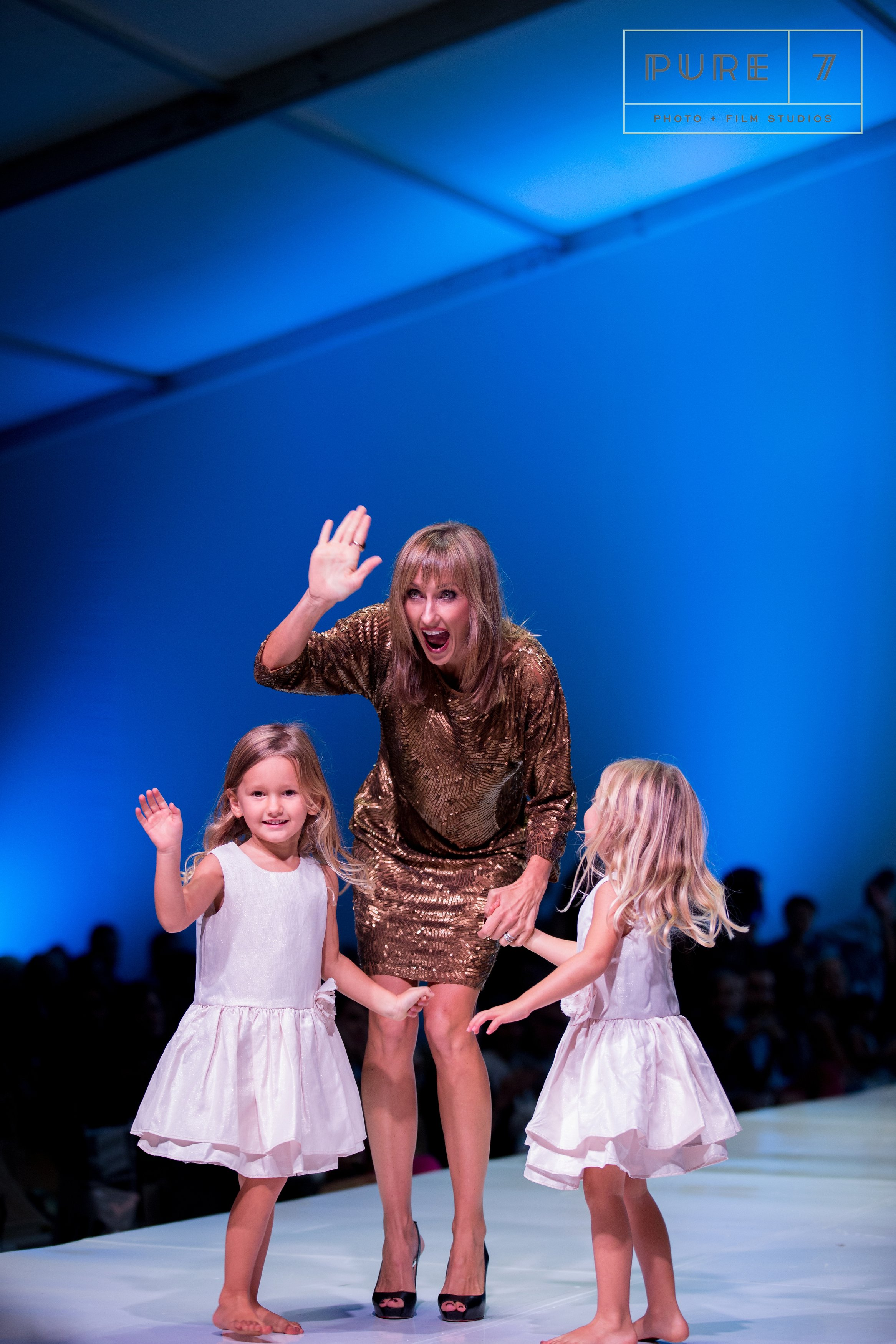 Cooper and Riley and me at the end of The 30A Collection runway show.