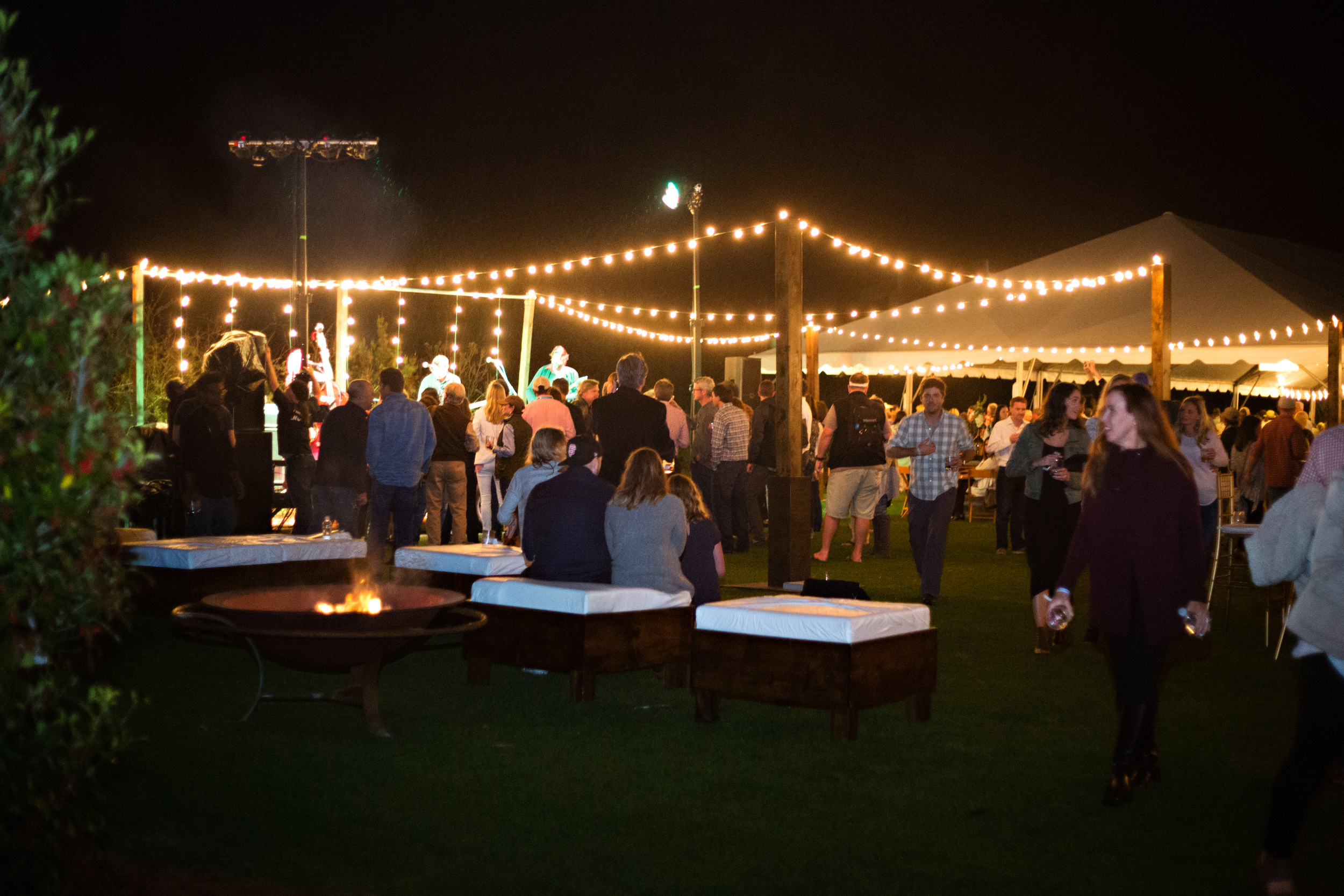 Wine & food tent on the Kelly Green at Alys Beach.