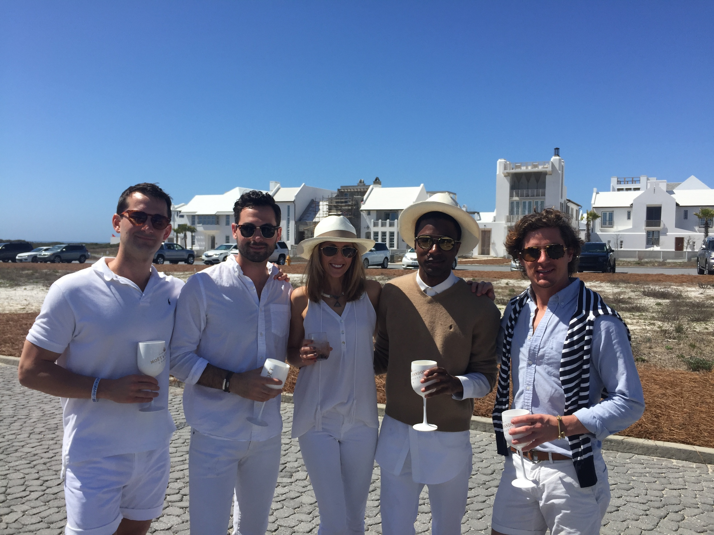 My very fashionable  Good Grit  friends in their white for Rose & Croquet.... Alys Beach Style